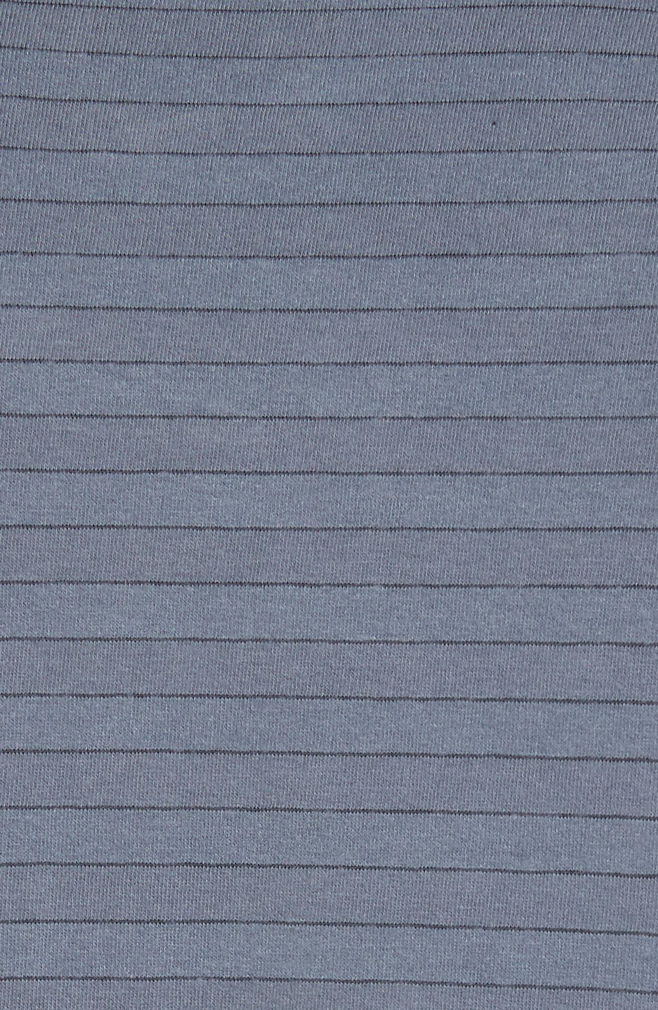 Alternate Image 5  - James Perse Shadow Stripe Pocket T-Shirt
