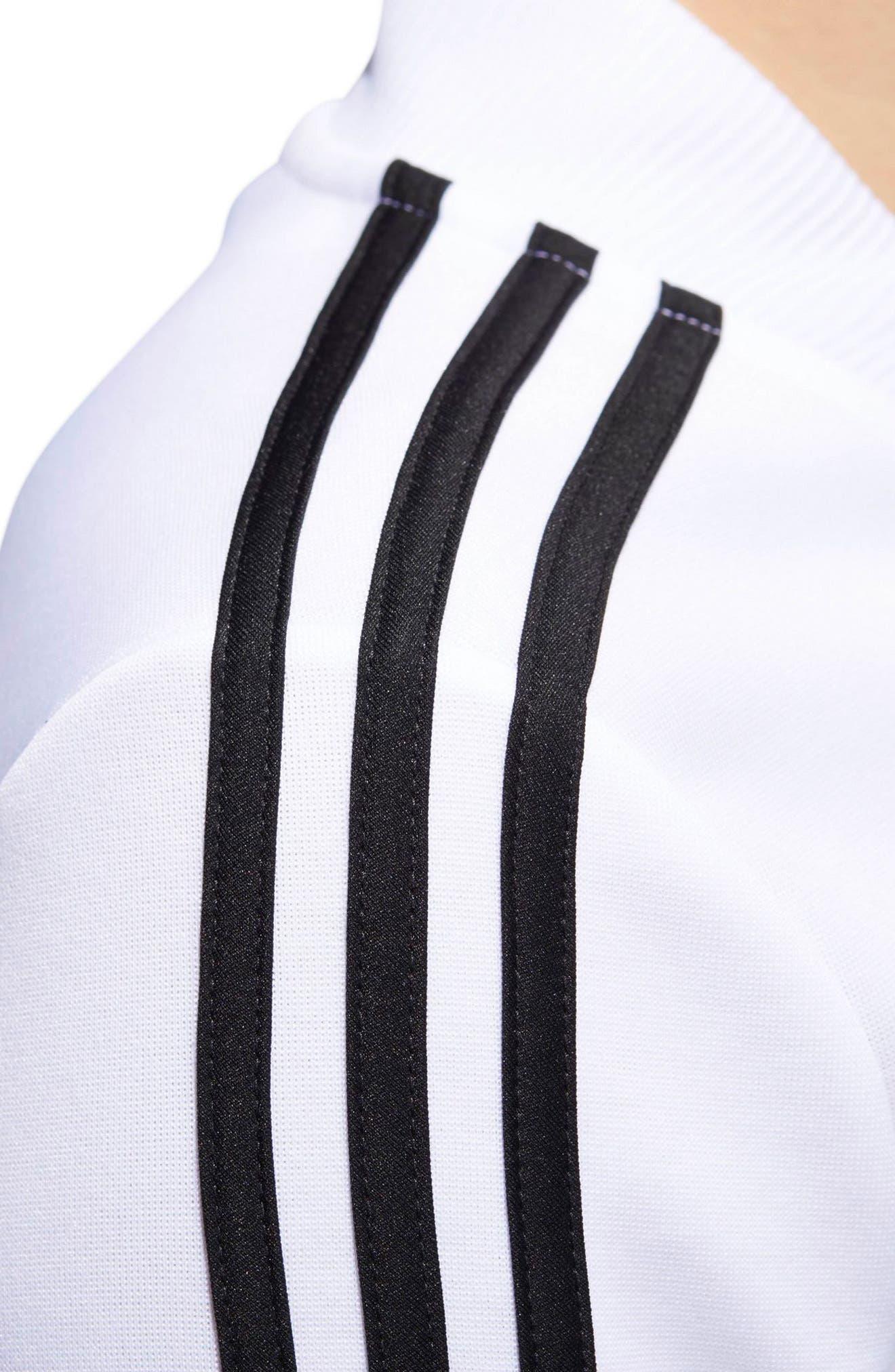 Tricot Snap It Track Jacket,                             Alternate thumbnail 7, color,                             White/ Black