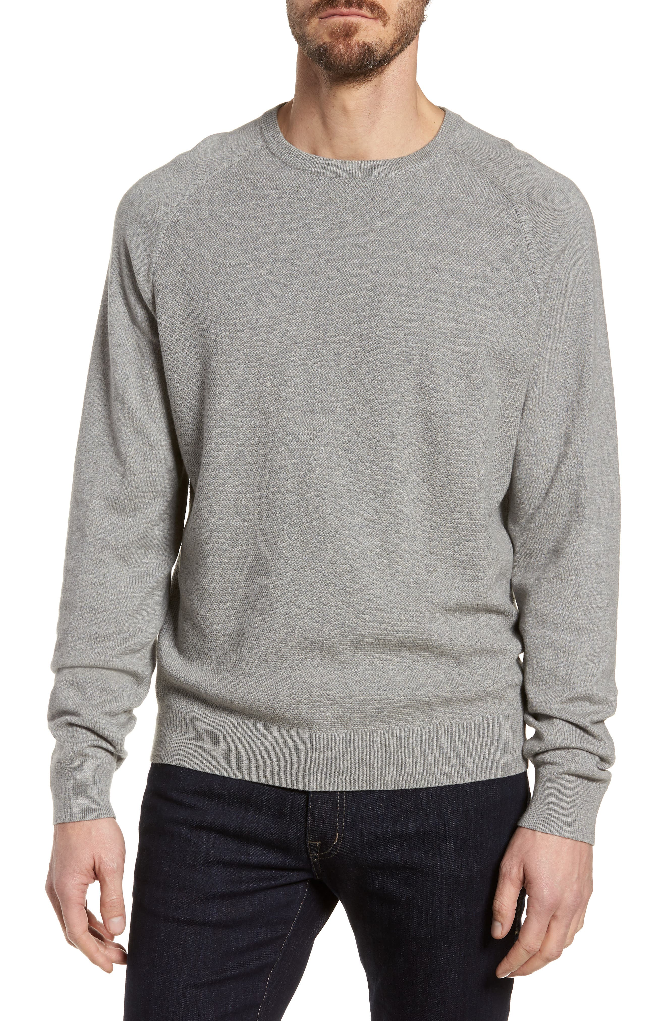 Nordstrom Men's Shop Crewneck Cotton & Cashmere Sweater