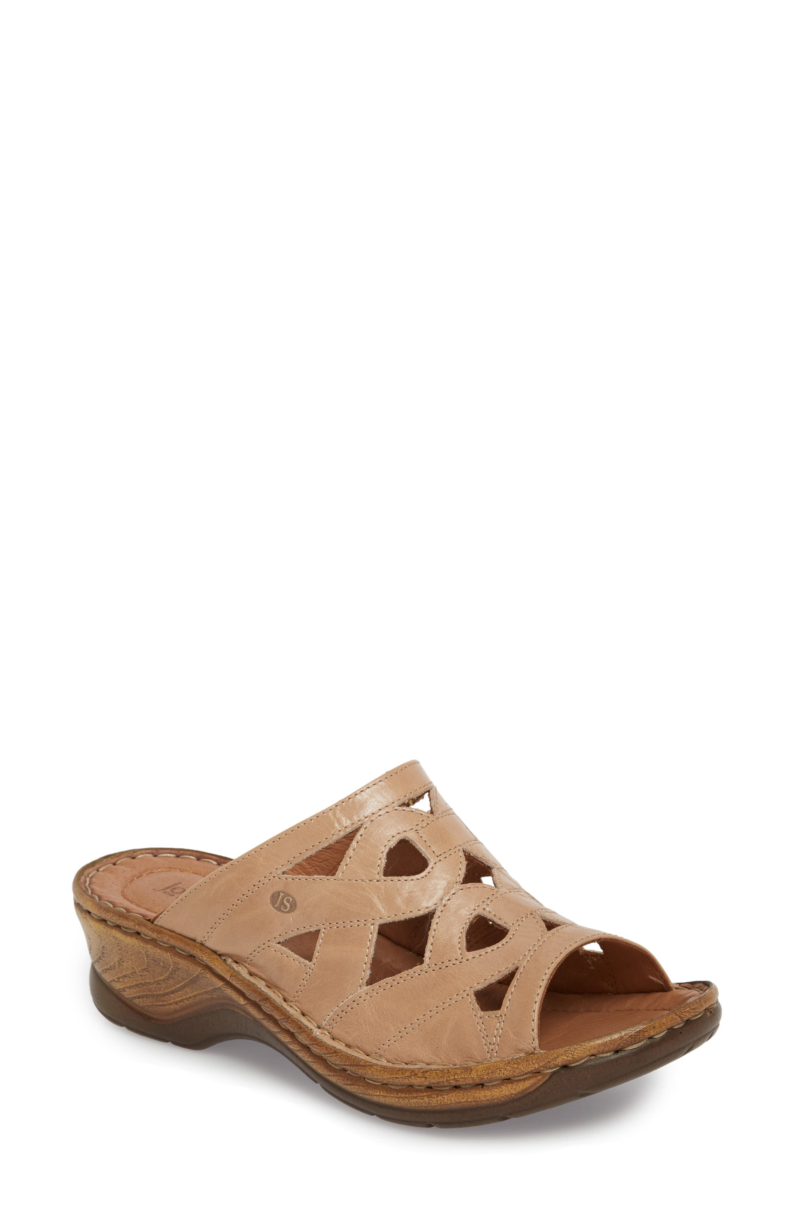 Catalonia 44 Slide Sandal,                         Main,                         color, Beige Leather