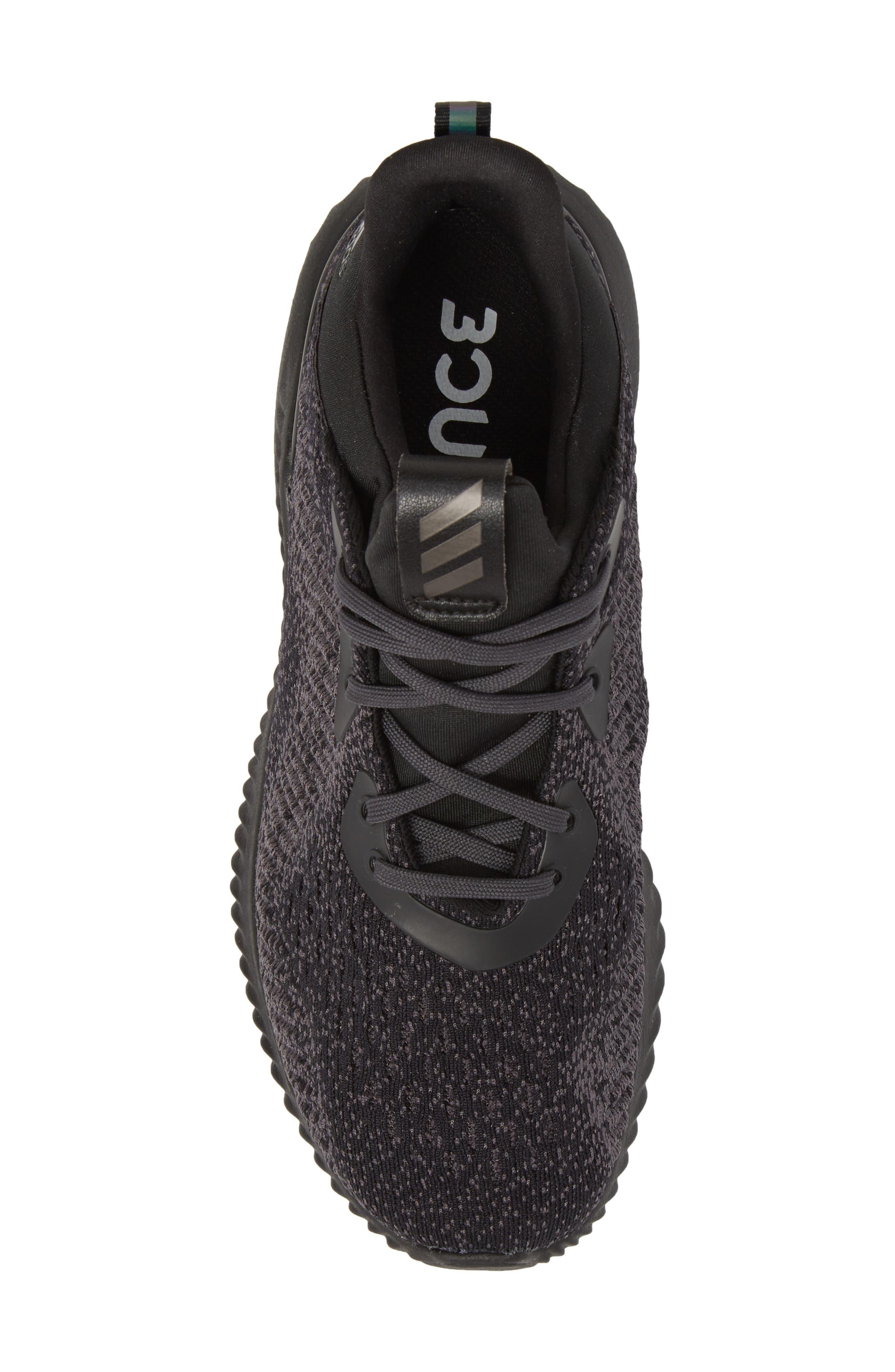 AlphaBounce EM Running Shoe,                             Alternate thumbnail 5, color,                             Core Black/ Trace Grey/ Carbon