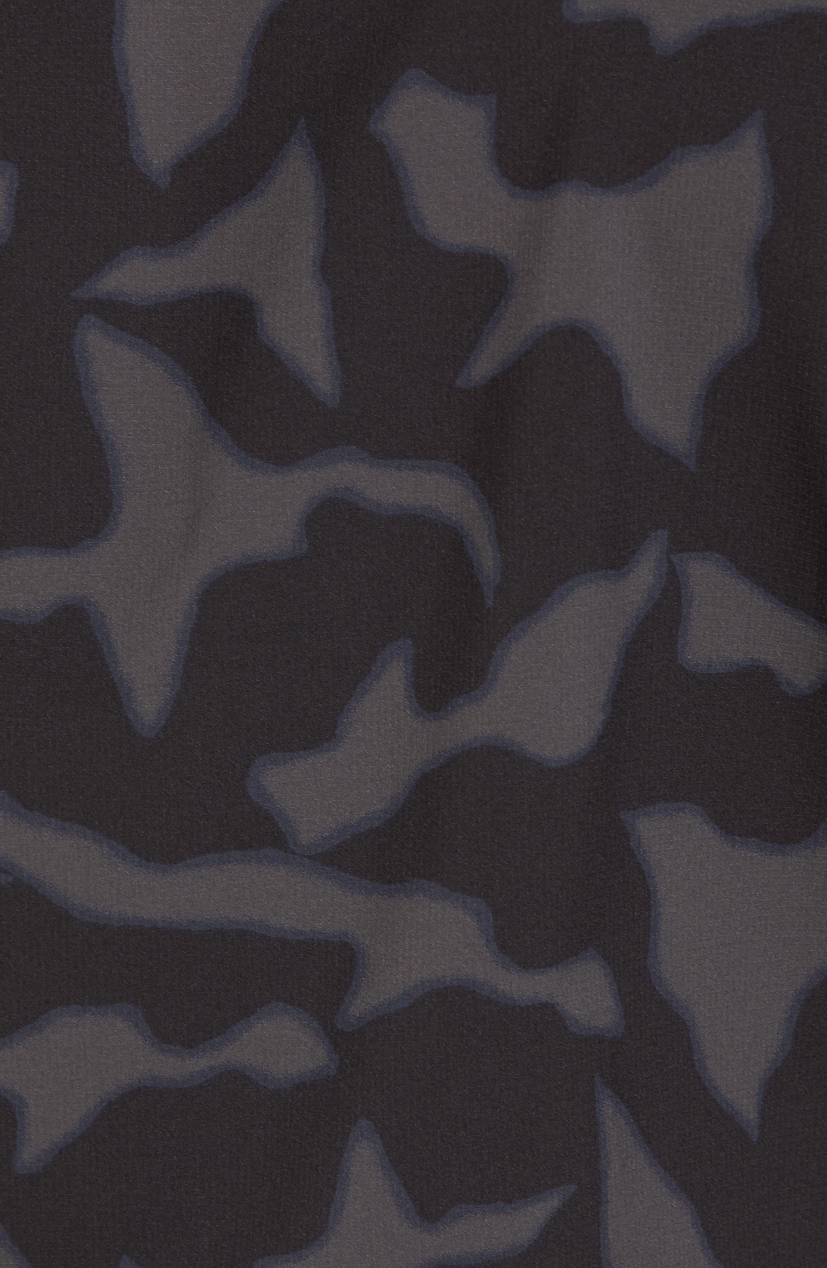Stretch Planing Hybrid Shirt,                             Alternate thumbnail 5, color,                             Black