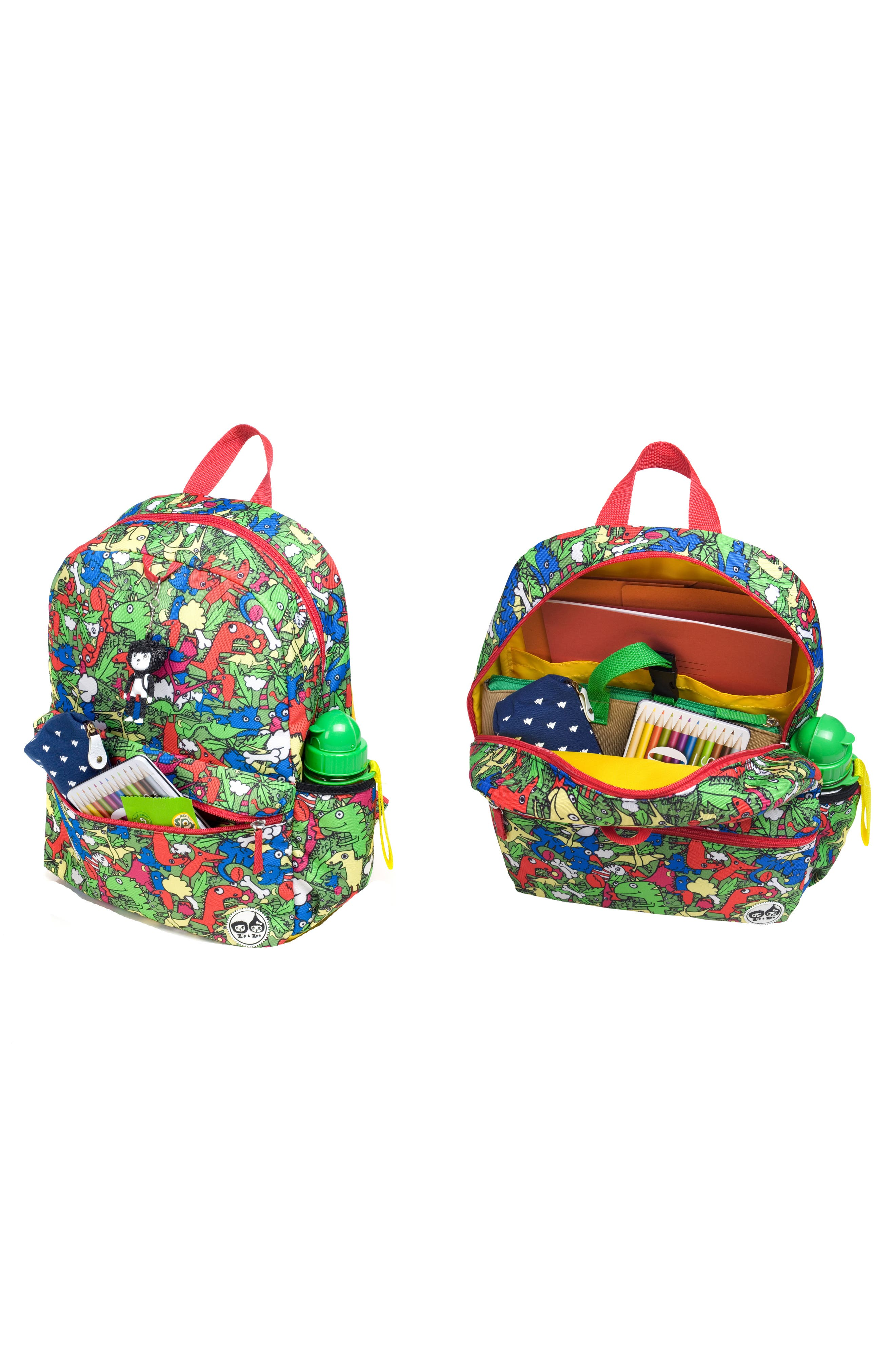 Zip & Zoe Dino Junior Backpack,                             Alternate thumbnail 5, color,                             Dino