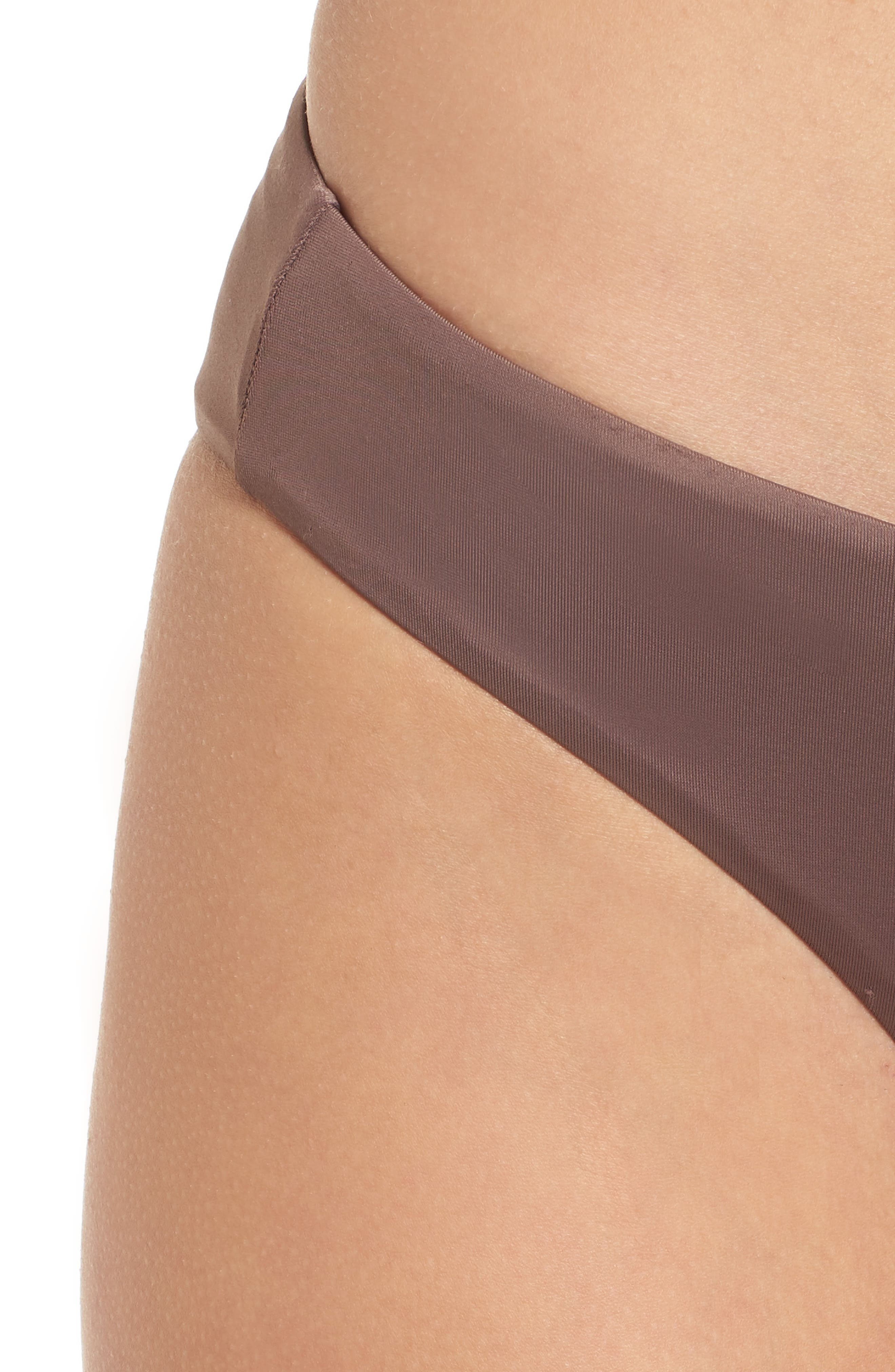 Solid Full Hipster Bikini Bottoms,                             Alternate thumbnail 4, color,                             Raisin