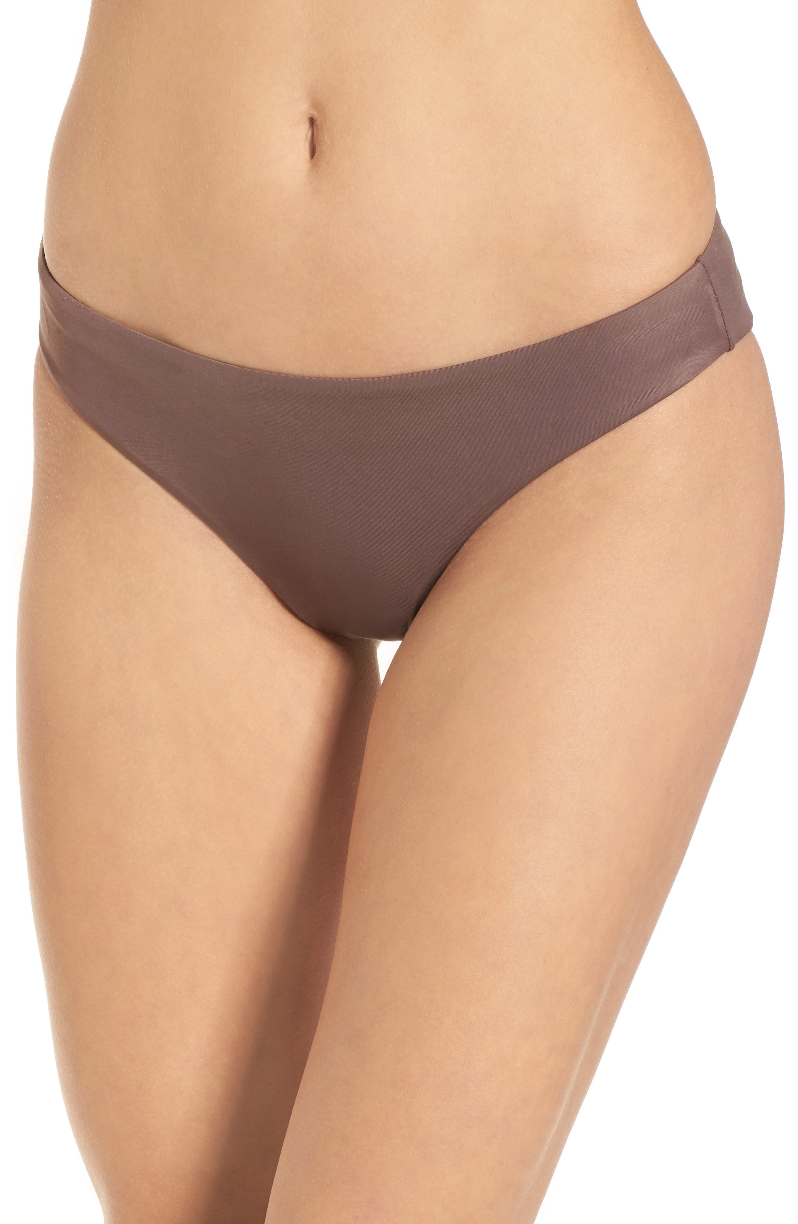 Solid Full Hipster Bikini Bottoms,                         Main,                         color, Raisin