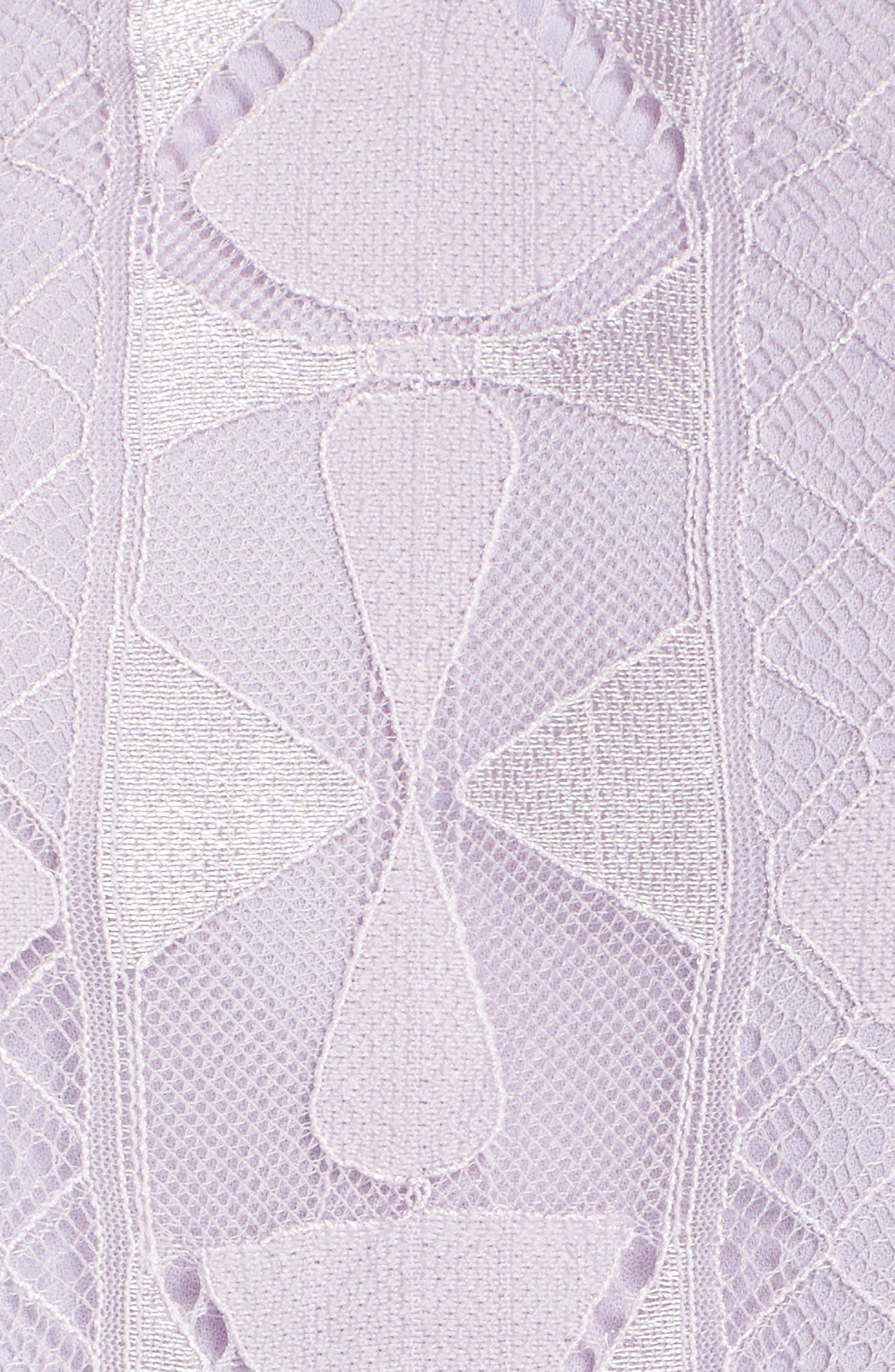 Florence Lace Fit & Flare Dress,                             Alternate thumbnail 5, color,                             Lilac