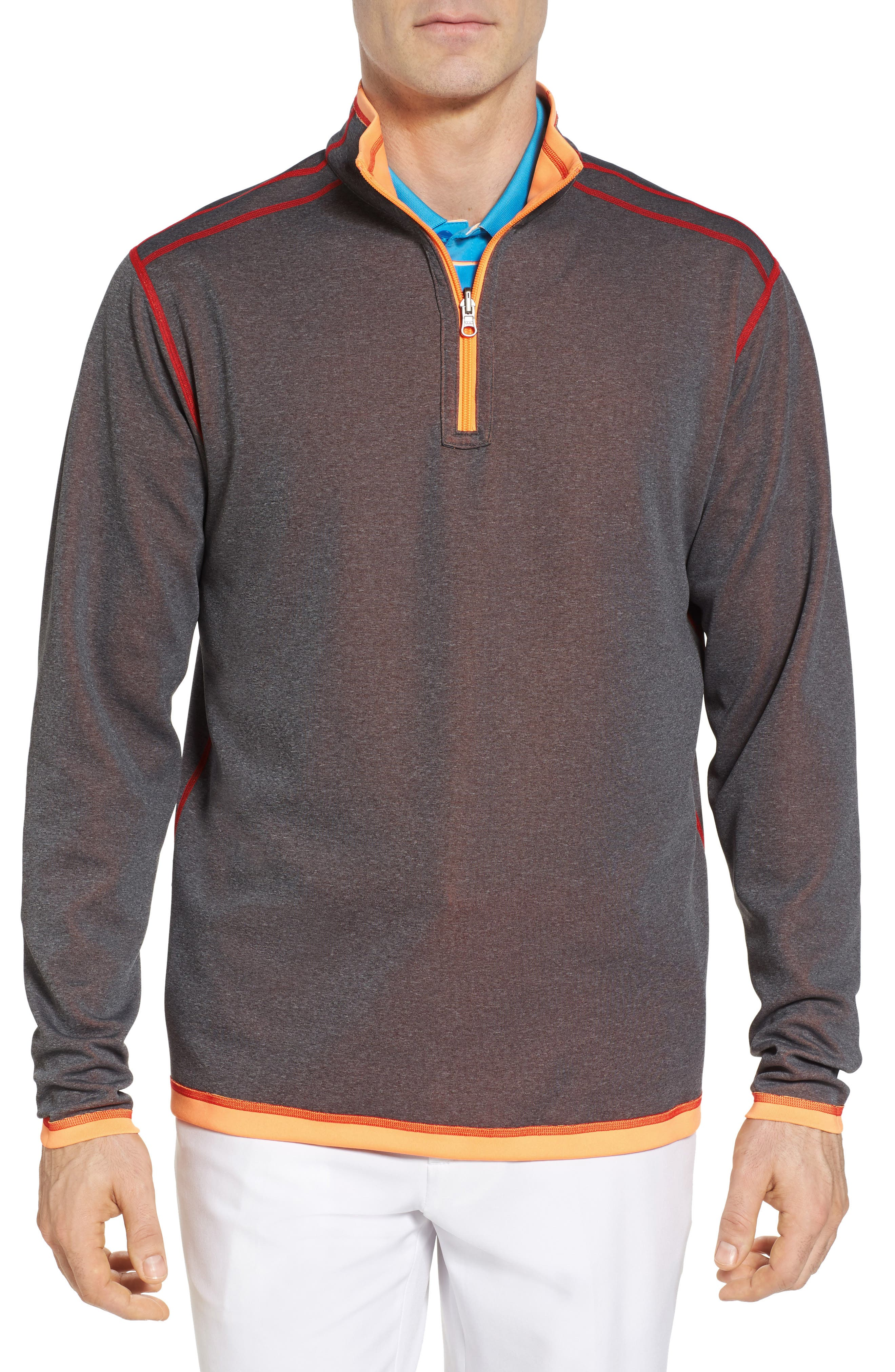 Evergreen Classic Fit DryTec Reversible Half Zip Pullover,                             Alternate thumbnail 3, color,                             Clarity