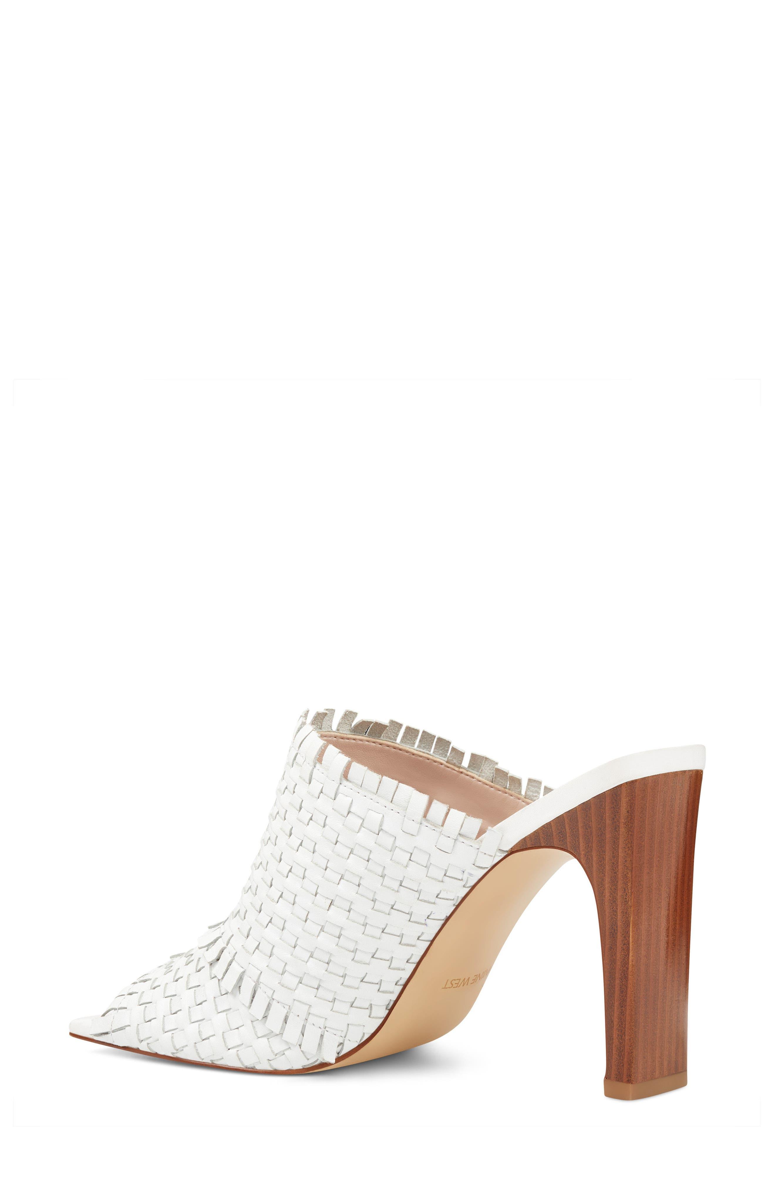 Lucili Woven Mule,                             Alternate thumbnail 2, color,                             White Leather
