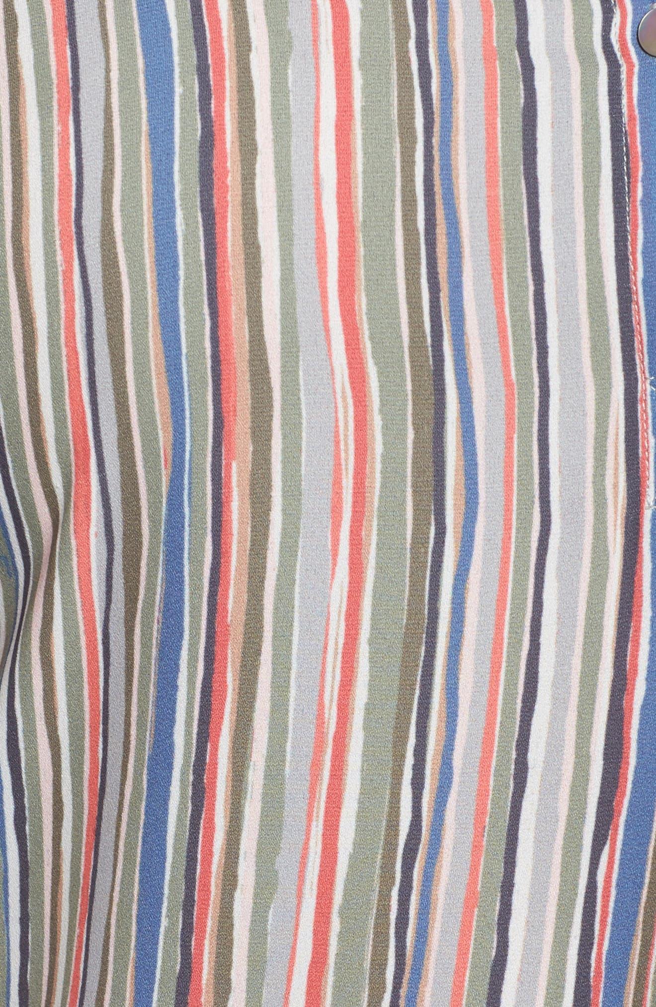Cabana Tie Sleeve Top,                             Alternate thumbnail 5, color,                             Multi