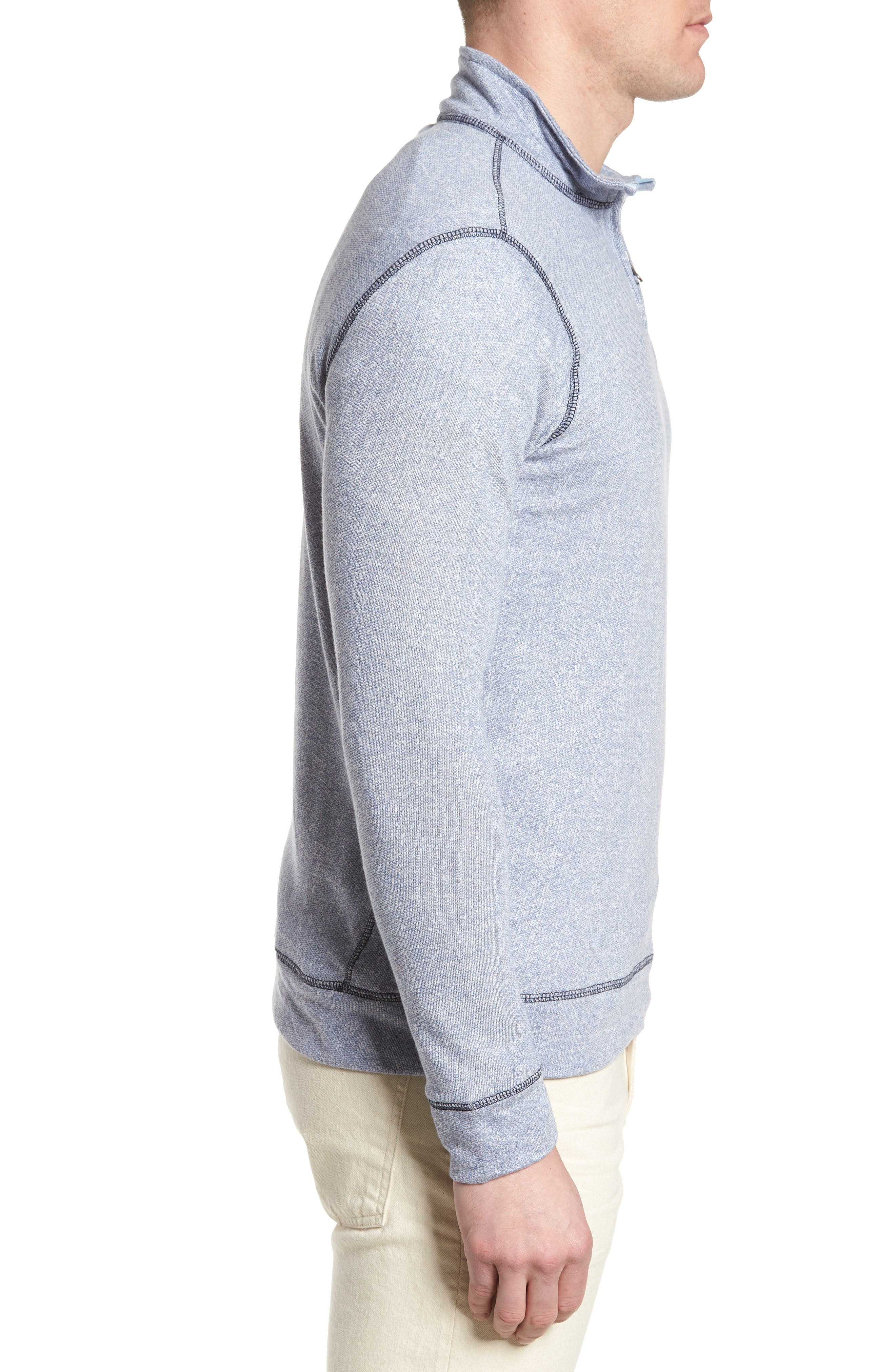 Regular Fit French Terry Pullover,                             Alternate thumbnail 3, color,                             Nautical Blue