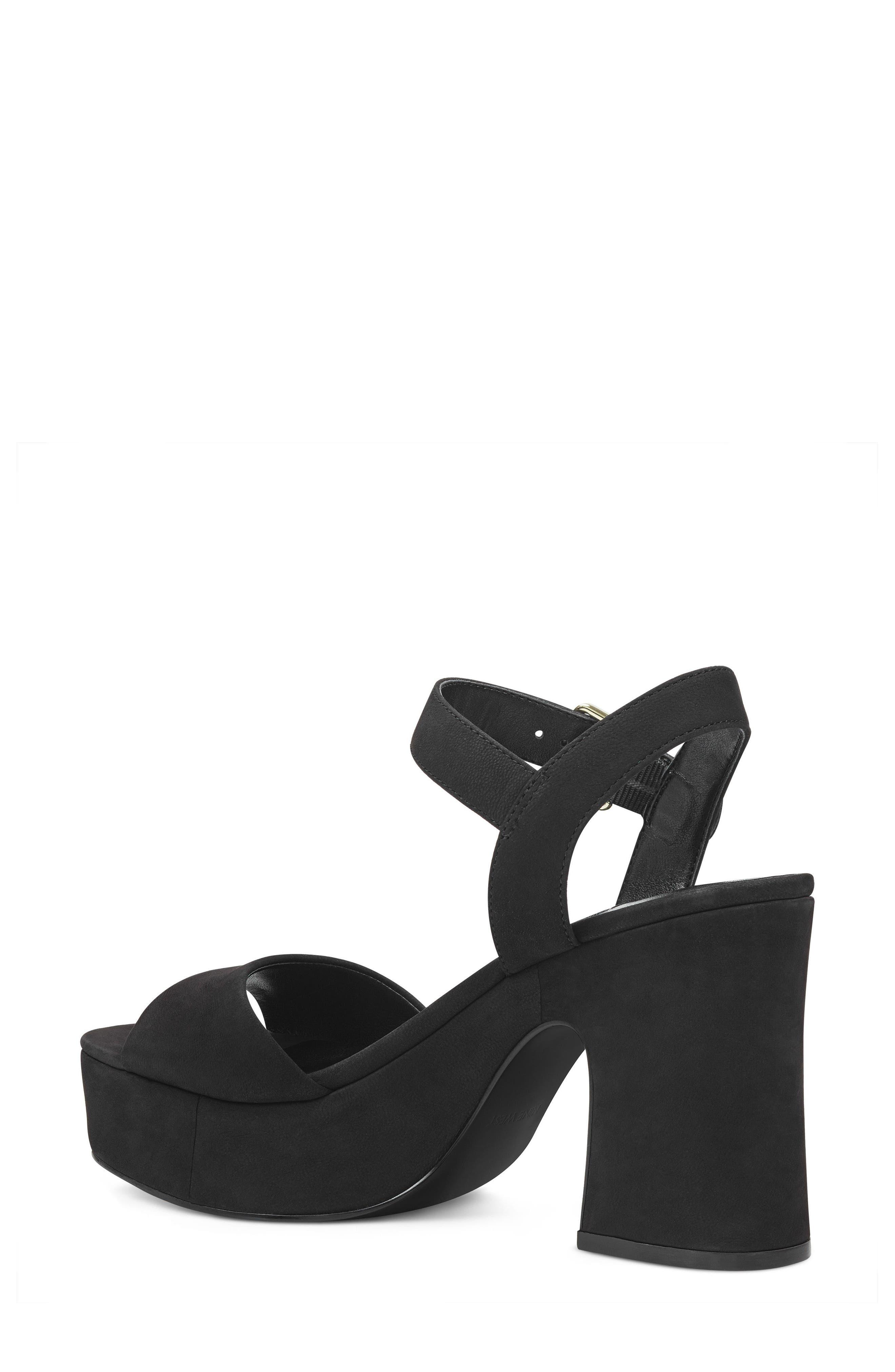 FallForU Platform Sandal,                             Alternate thumbnail 2, color,                             Black Leather