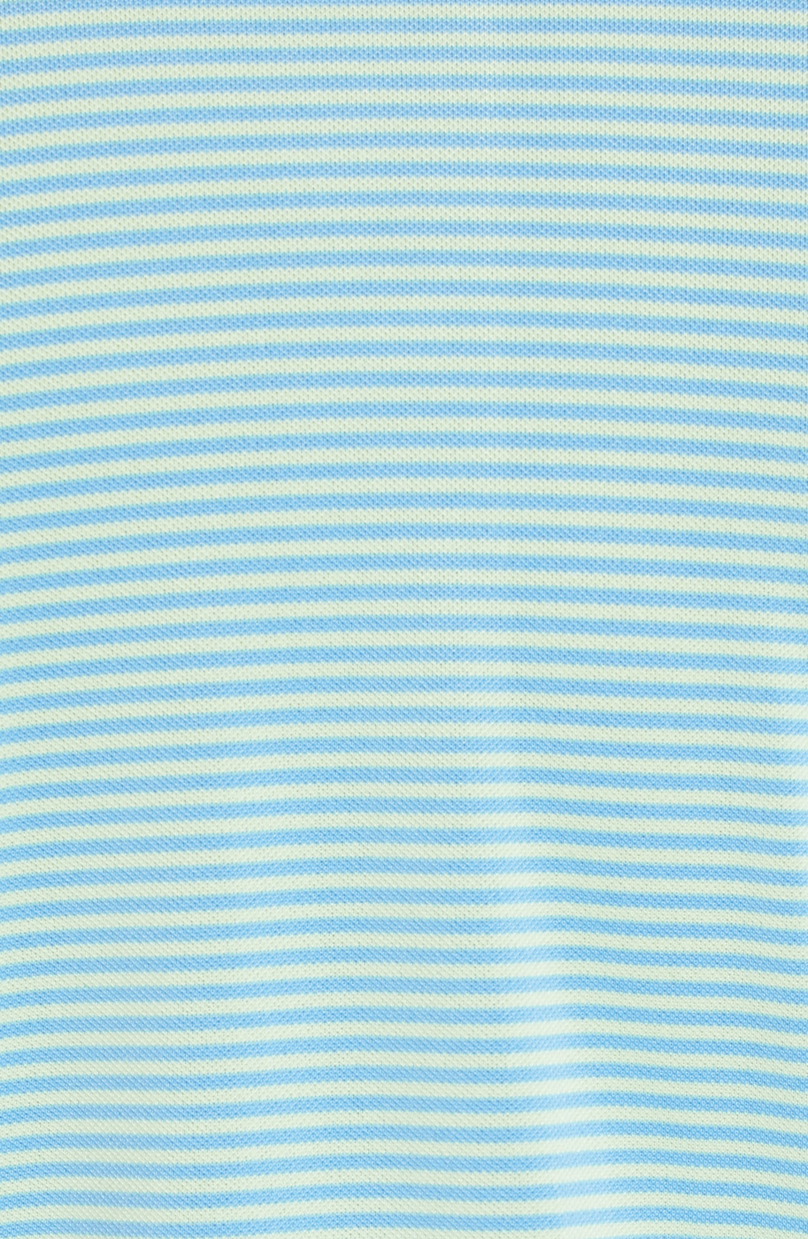 Regular Fit Stripe Stretch Polo,                             Alternate thumbnail 5, color,                             Lime
