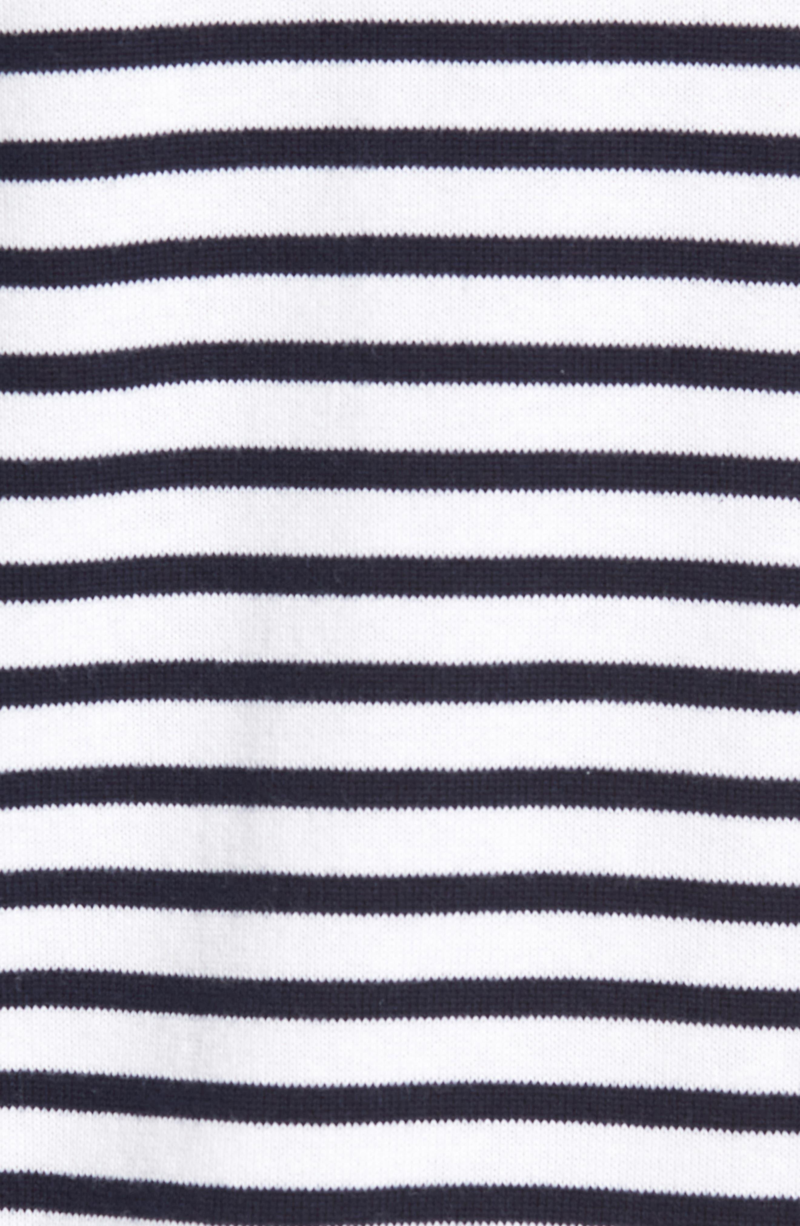 Breton Stripe Sweater,                             Alternate thumbnail 5, color,                             White Navy Stripe