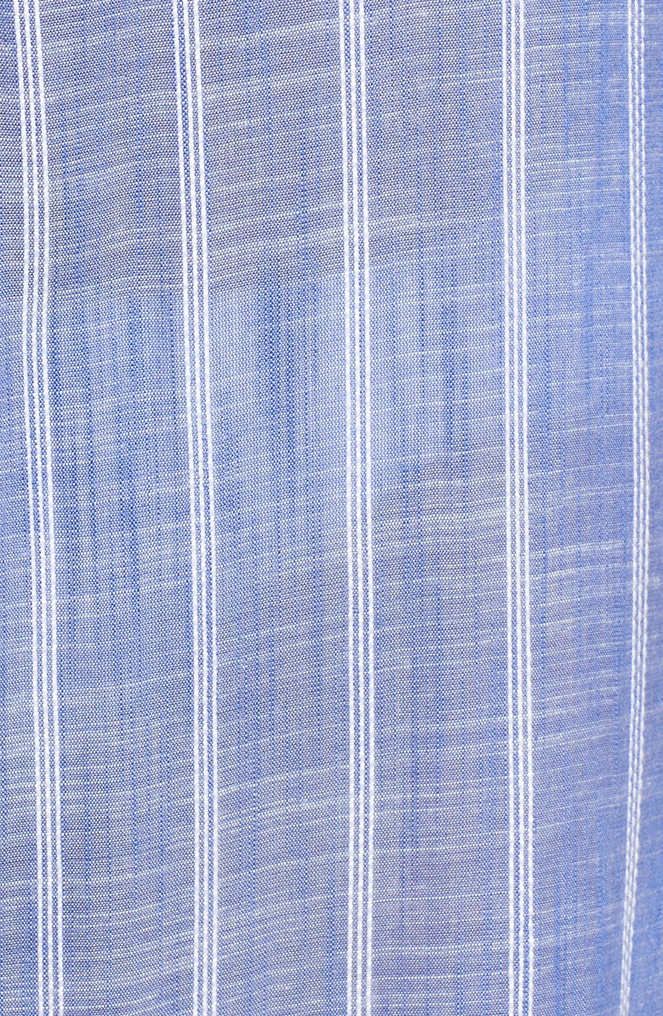 Cover-Up Jumpsuit,                             Alternate thumbnail 5, color,                             Blue Stripe (Chambray)