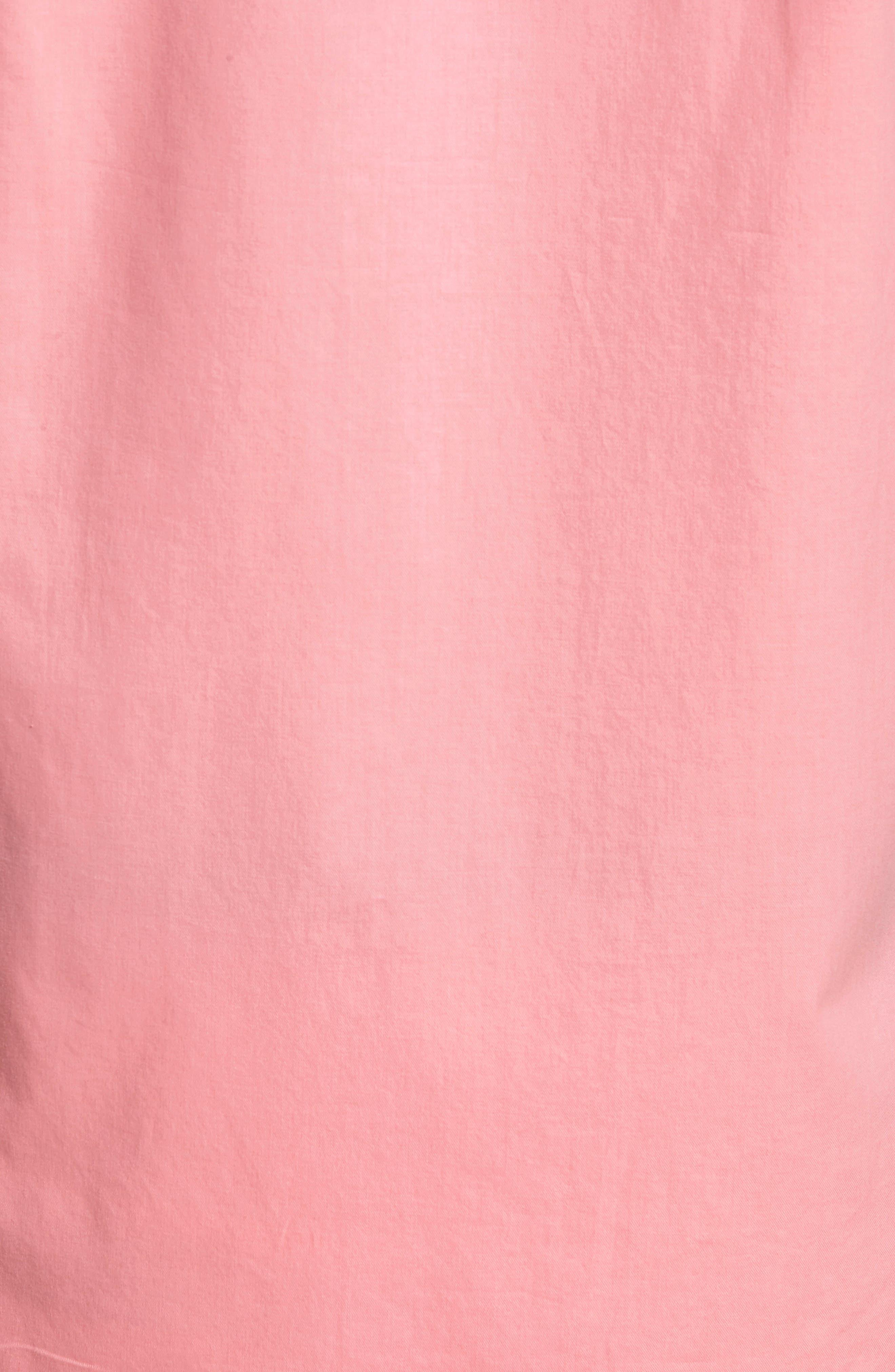 Slim Fit Short Sleeve Sport Shirt,                             Alternate thumbnail 5, color,                             Garment Dye - Pacific Pink