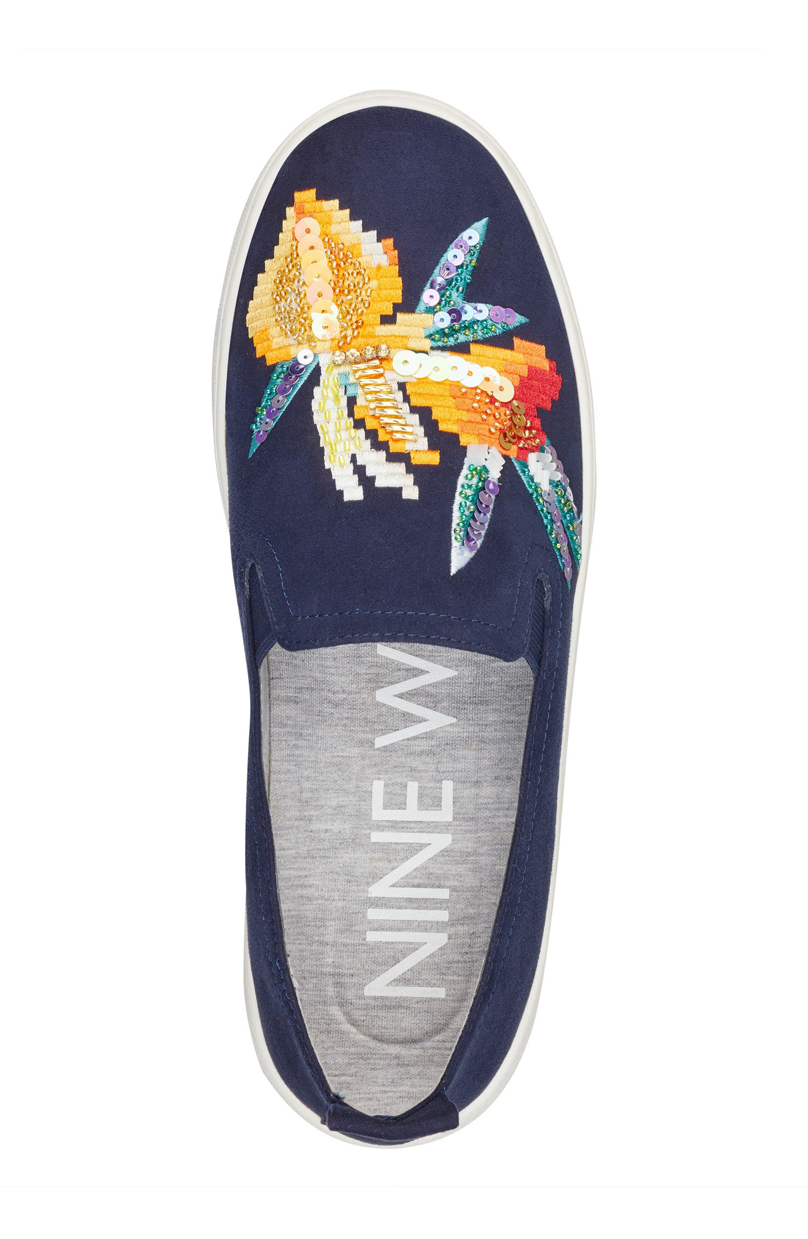 Playavista Slip-On Sneaker,                             Alternate thumbnail 5, color,                             Navy Suede