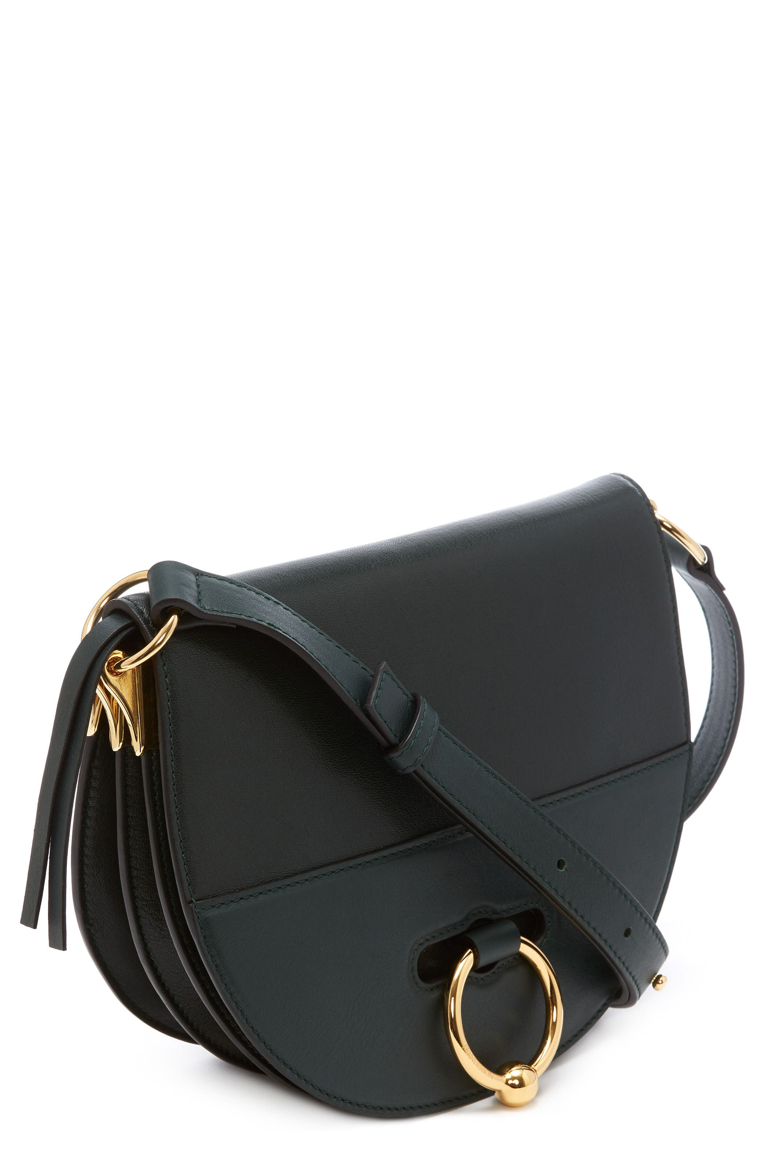 J.W.ANDERSON Latch Crossbody Bag,                             Main thumbnail 1, color,                             Forest Green