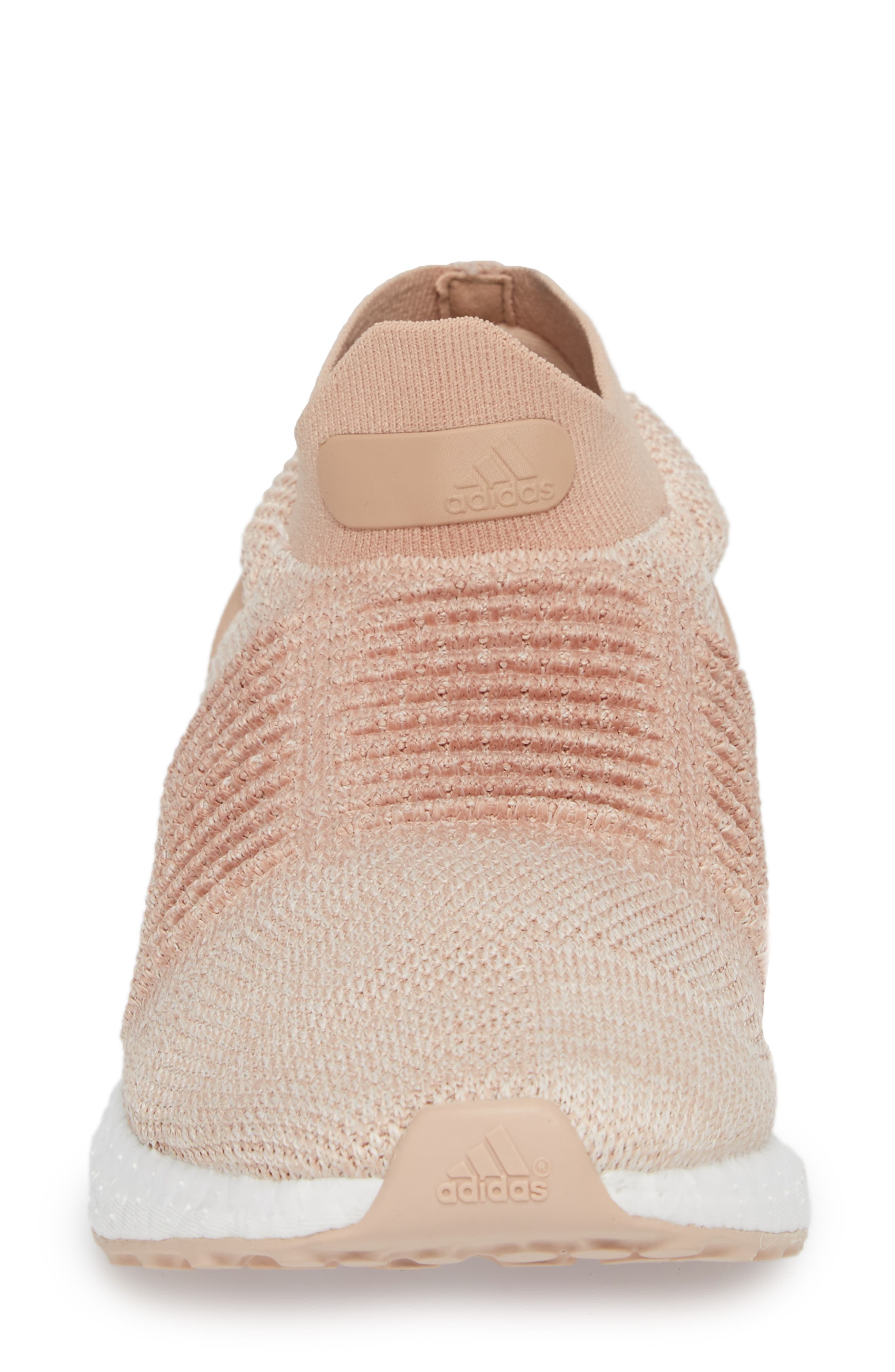 UltraBoost Laceless Running Shoe,                             Alternate thumbnail 4, color,                             Ash Pearl/ Ash Pearl
