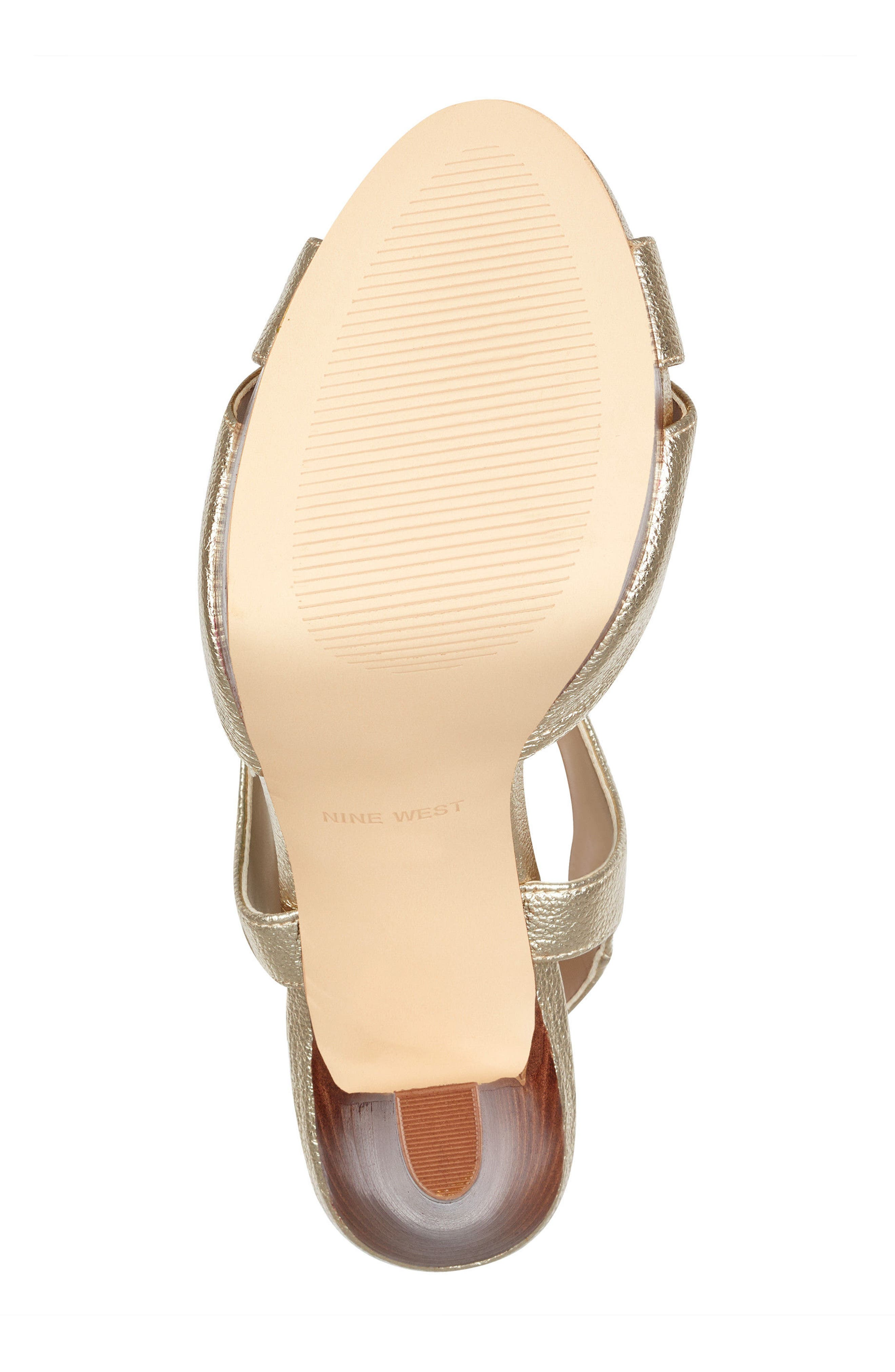 Ibyn Platform Sandal,                             Alternate thumbnail 6, color,                             Light Gold Leather