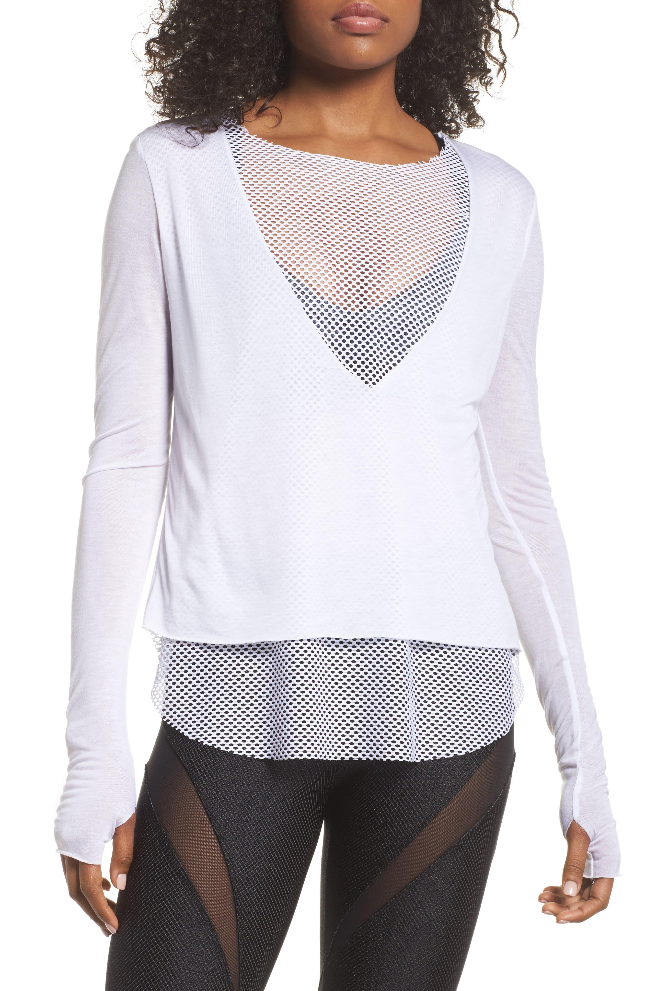 Banele Mesh Top,                         Main,                         color, White