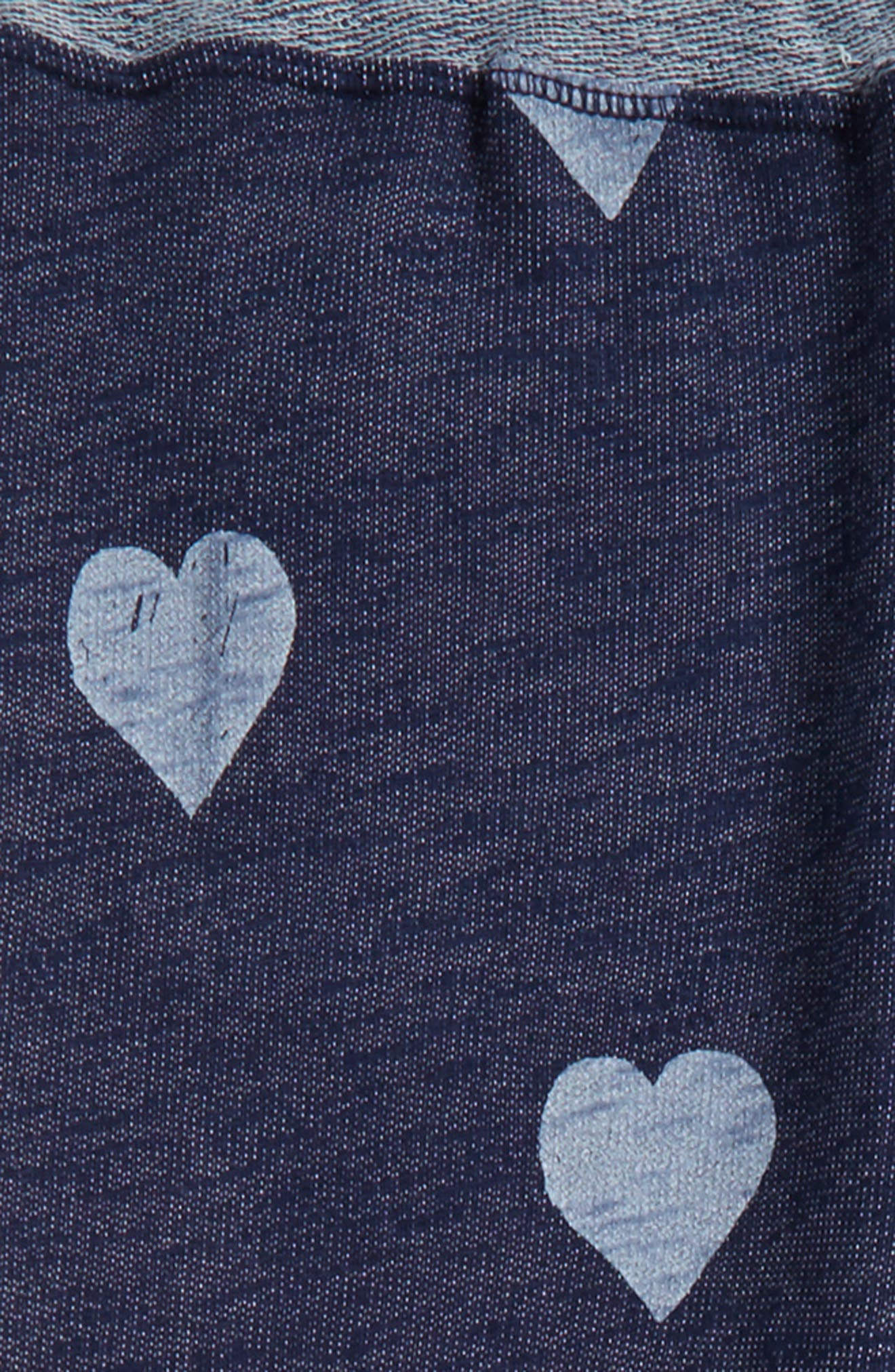 Heart Print Sweatpants,                             Alternate thumbnail 2, color,                             Indigo