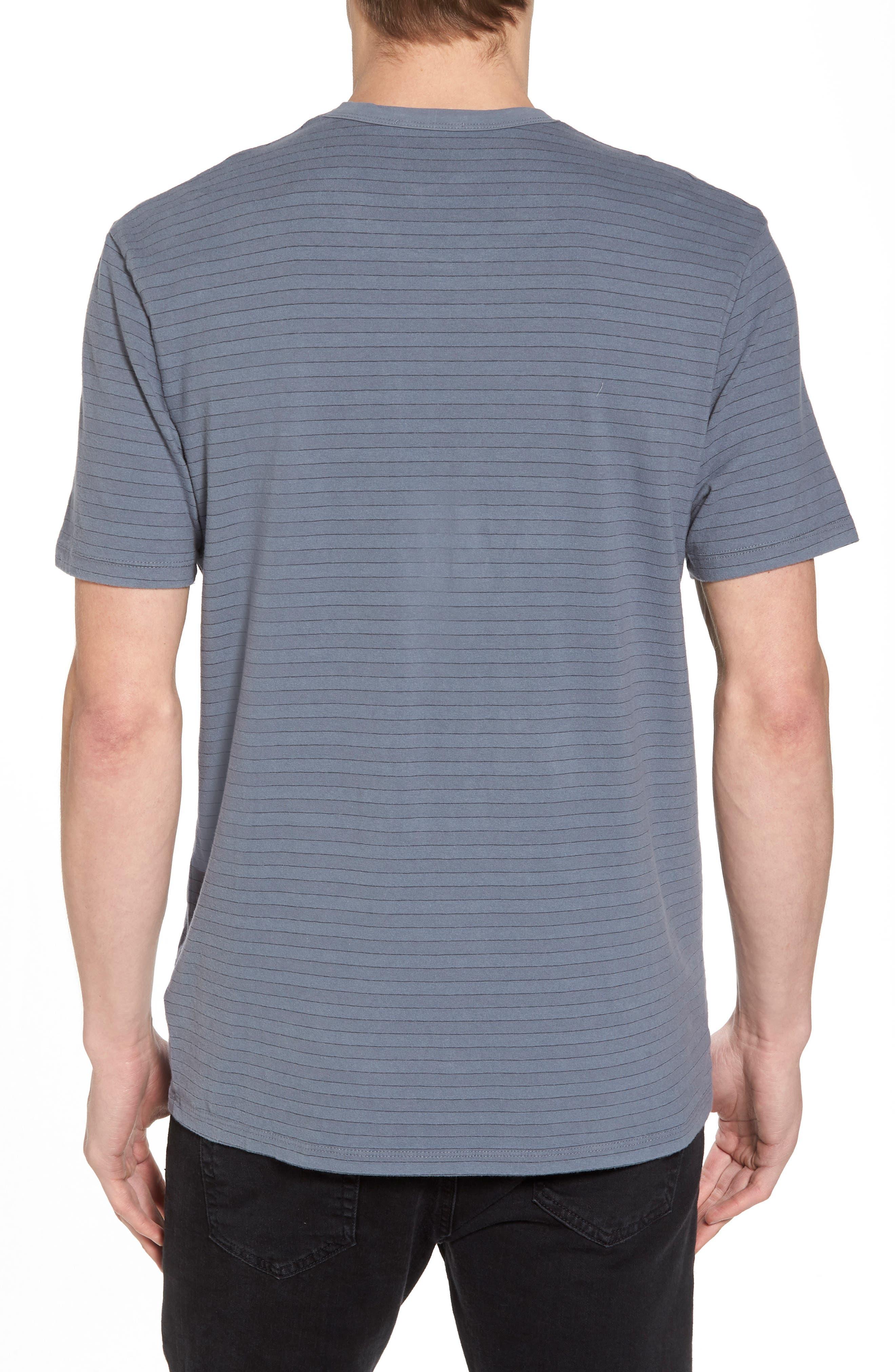 Alternate Image 2  - James Perse Shadow Stripe Pocket T-Shirt