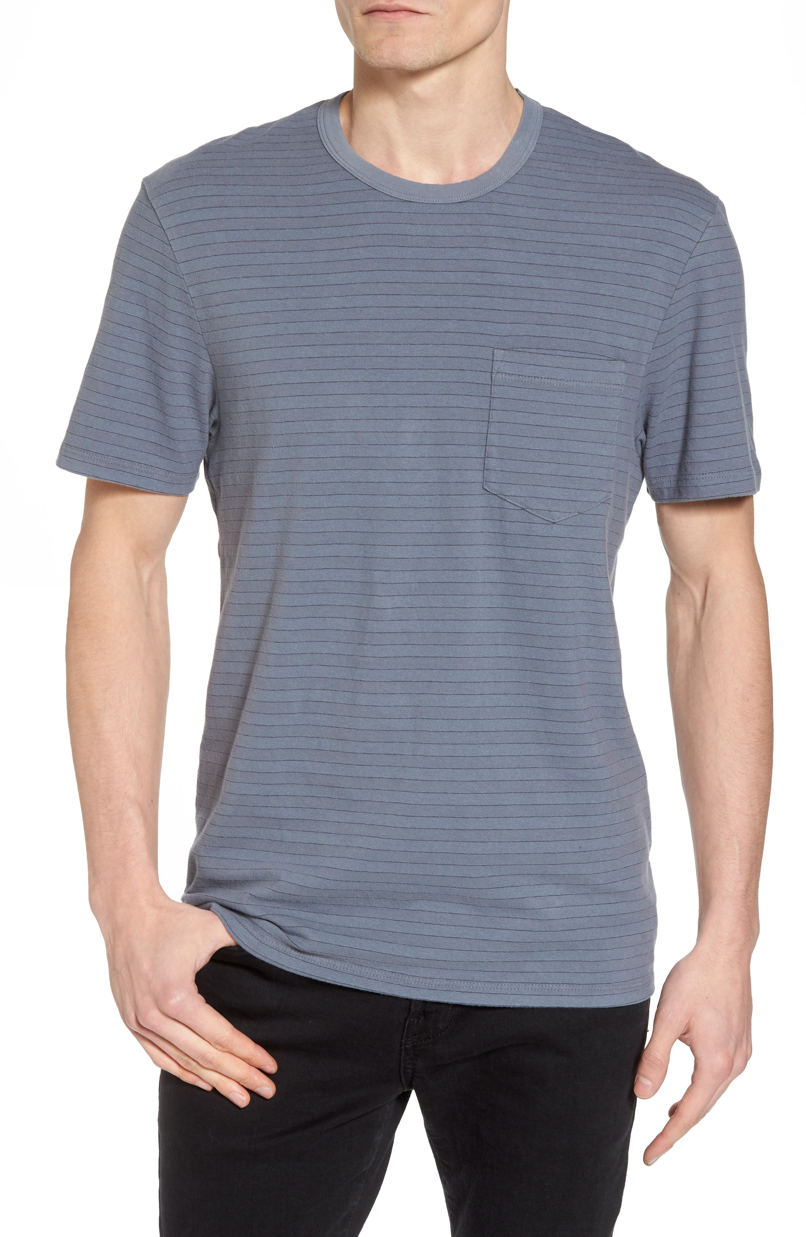 Alternate Image 1 Selected - James Perse Shadow Stripe Pocket T-Shirt