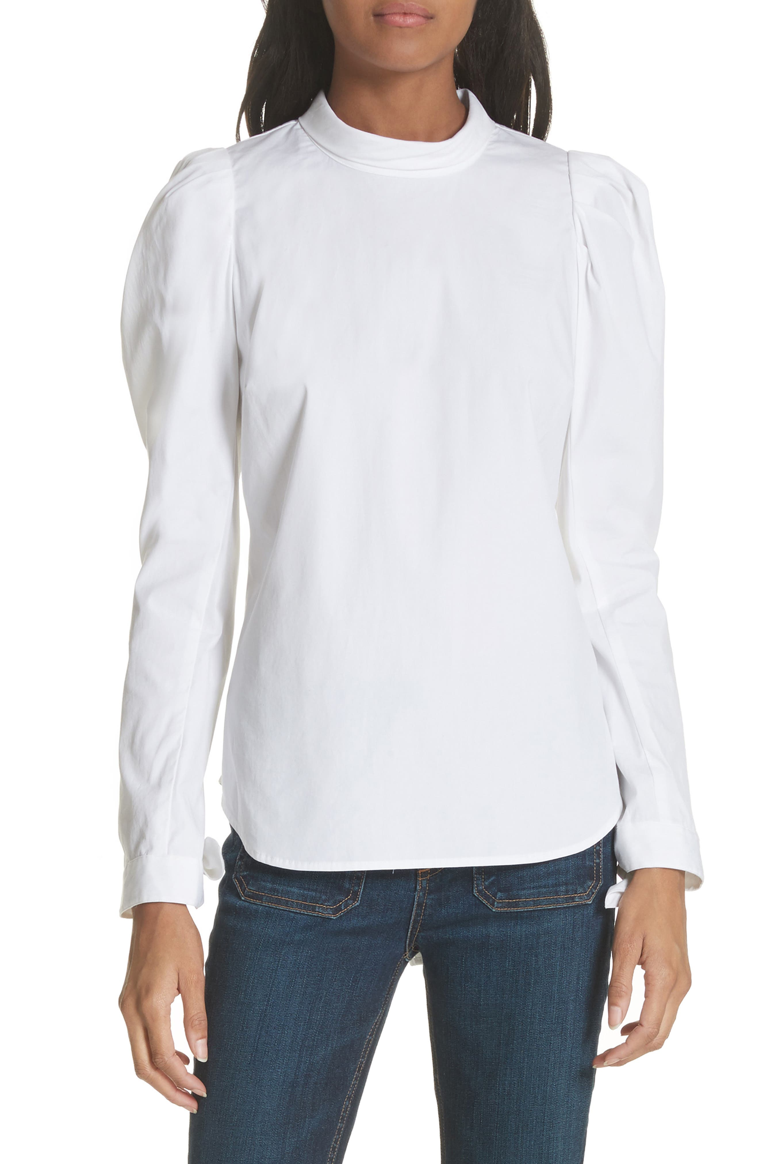 Veronica Beard Isabel Puff Sleeve Shirt