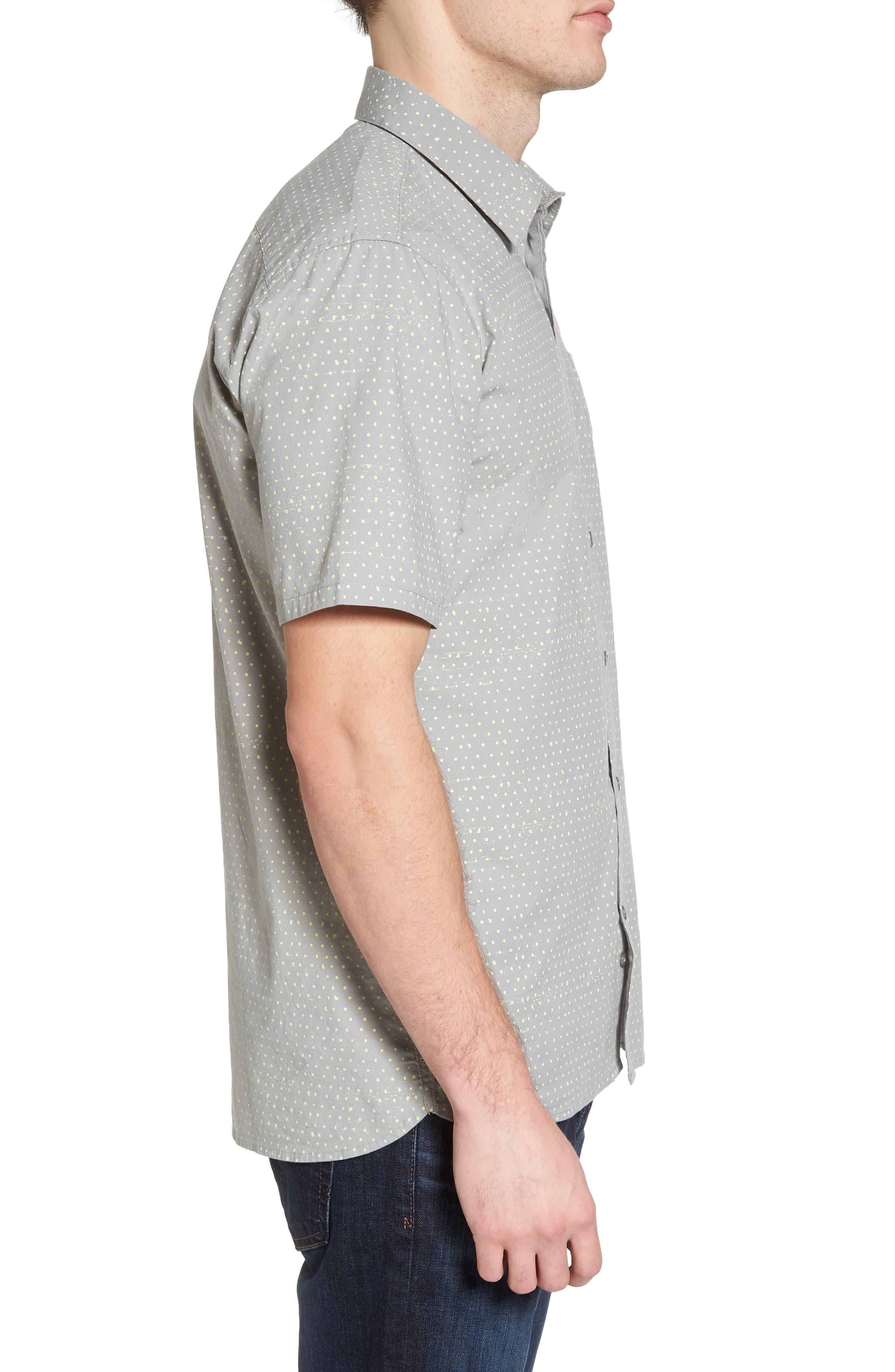 Jones Dot Woven Shirt,                             Alternate thumbnail 3, color,                             Light Pumice