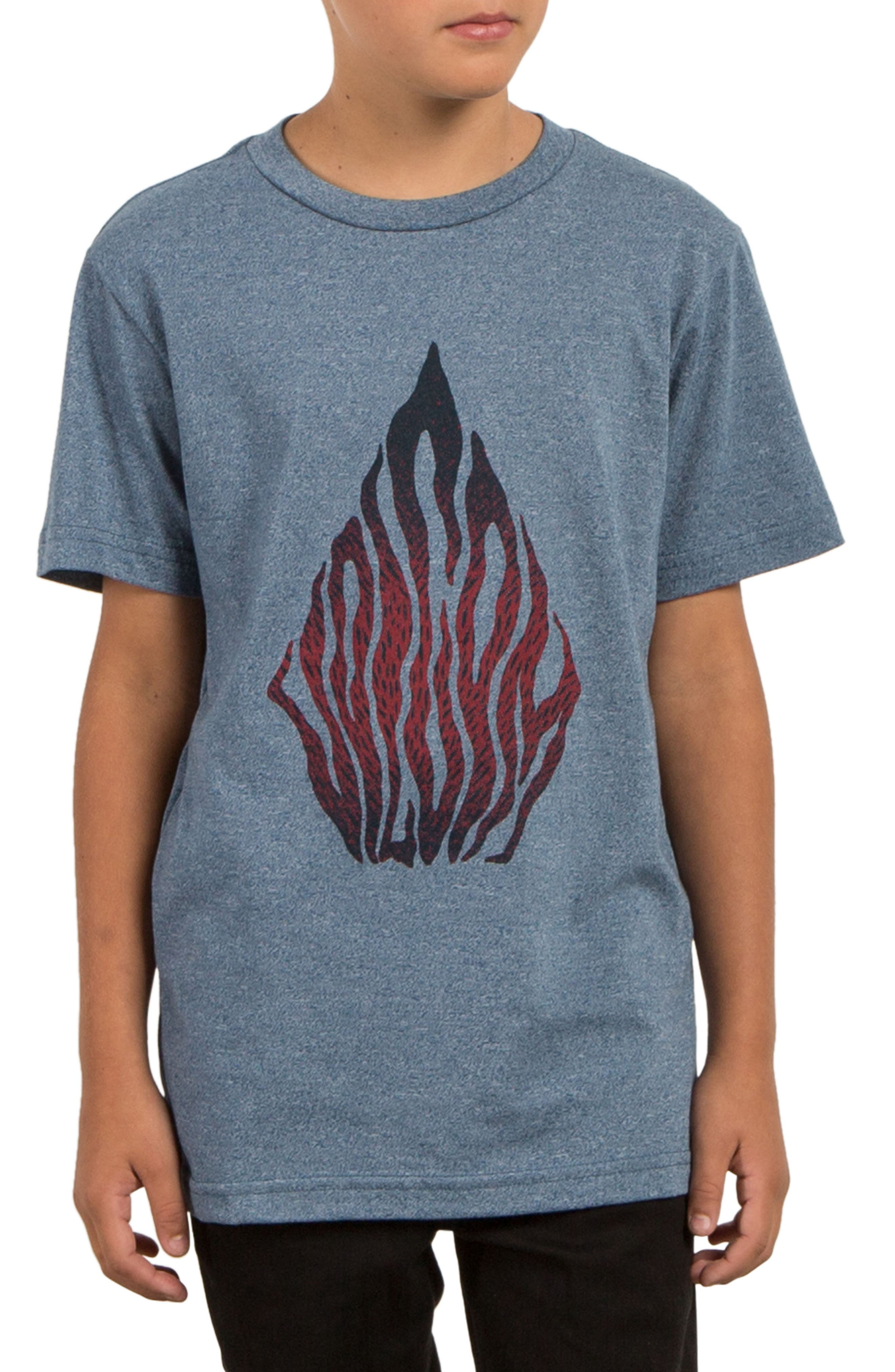 Blooms Day Graphic T-Shirt,                         Main,                         color, Blue Drift