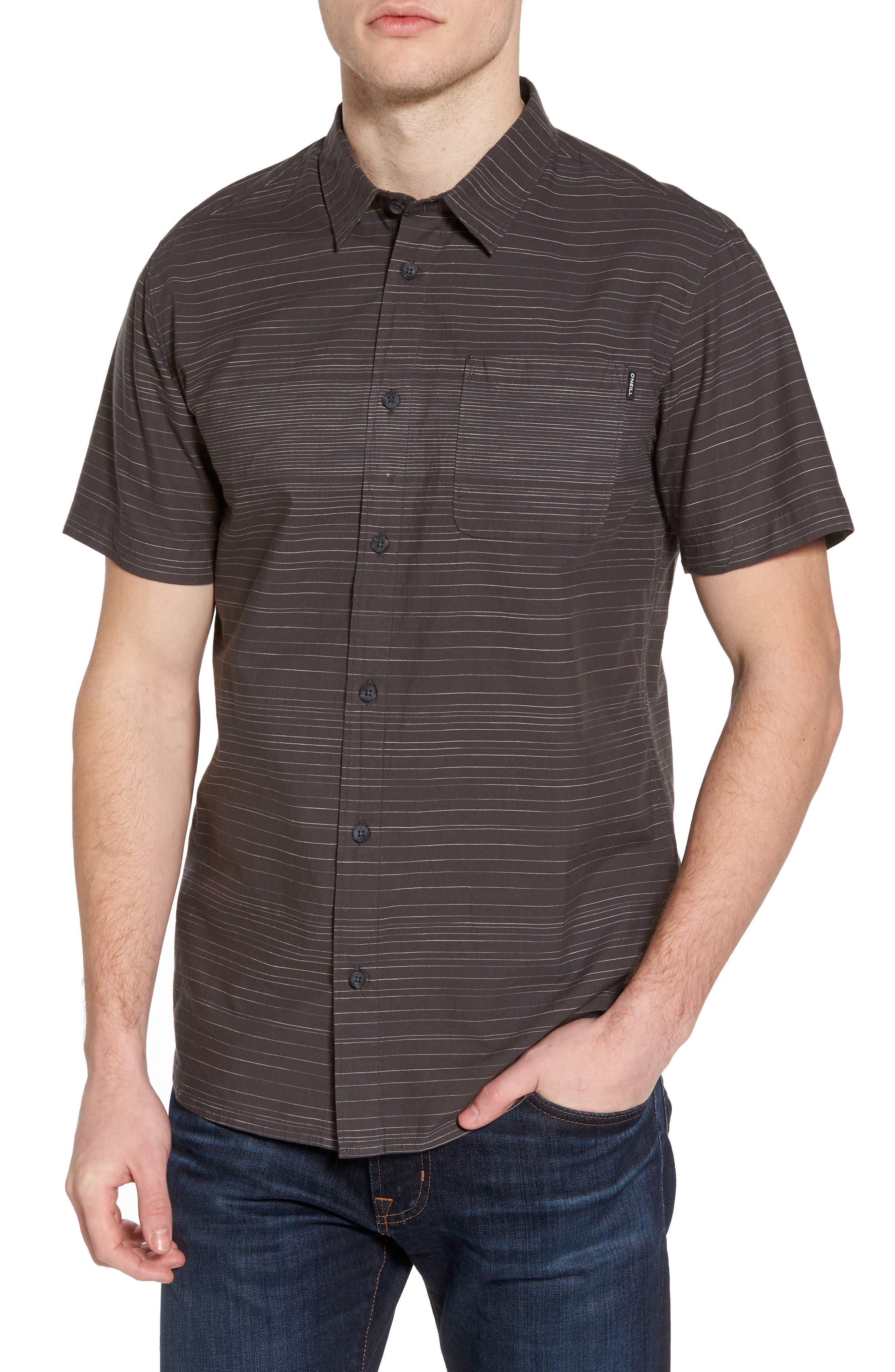 Hound Woven Shirt,                             Main thumbnail 1, color,                             Asphalt