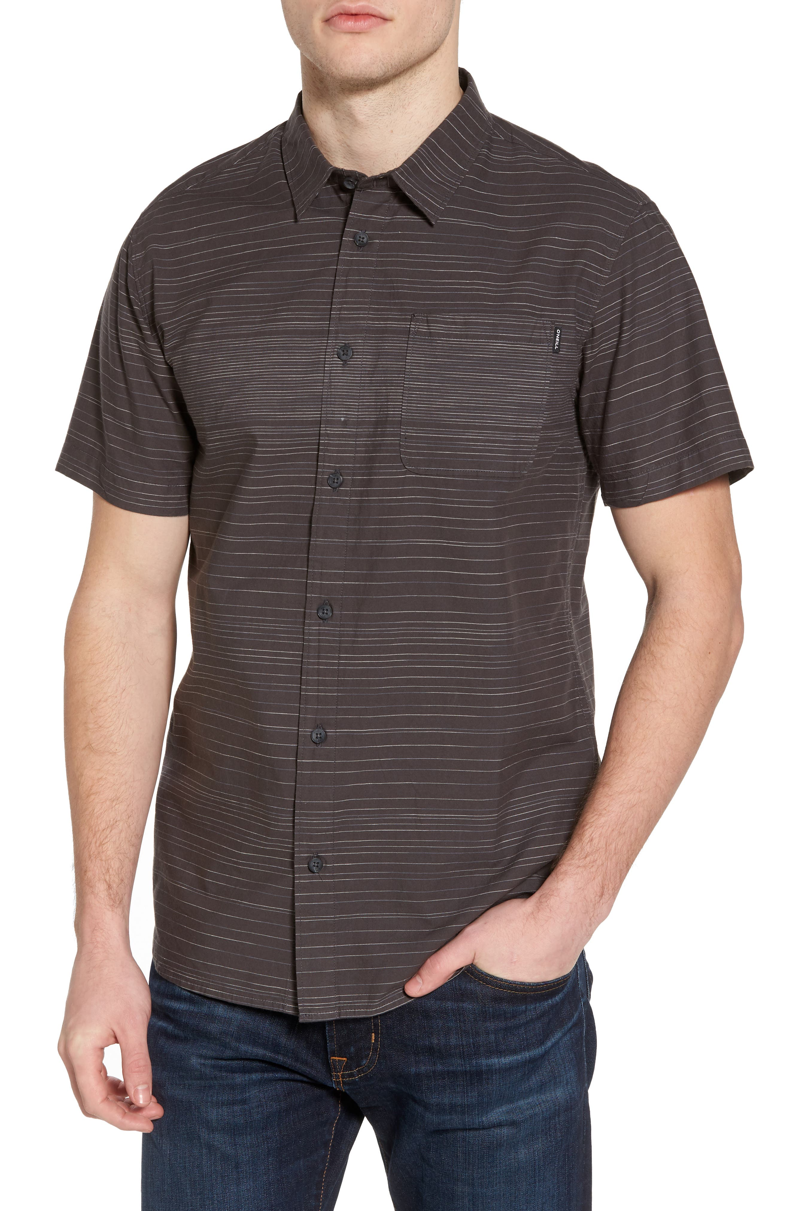 Hound Woven Shirt,                         Main,                         color, Asphalt