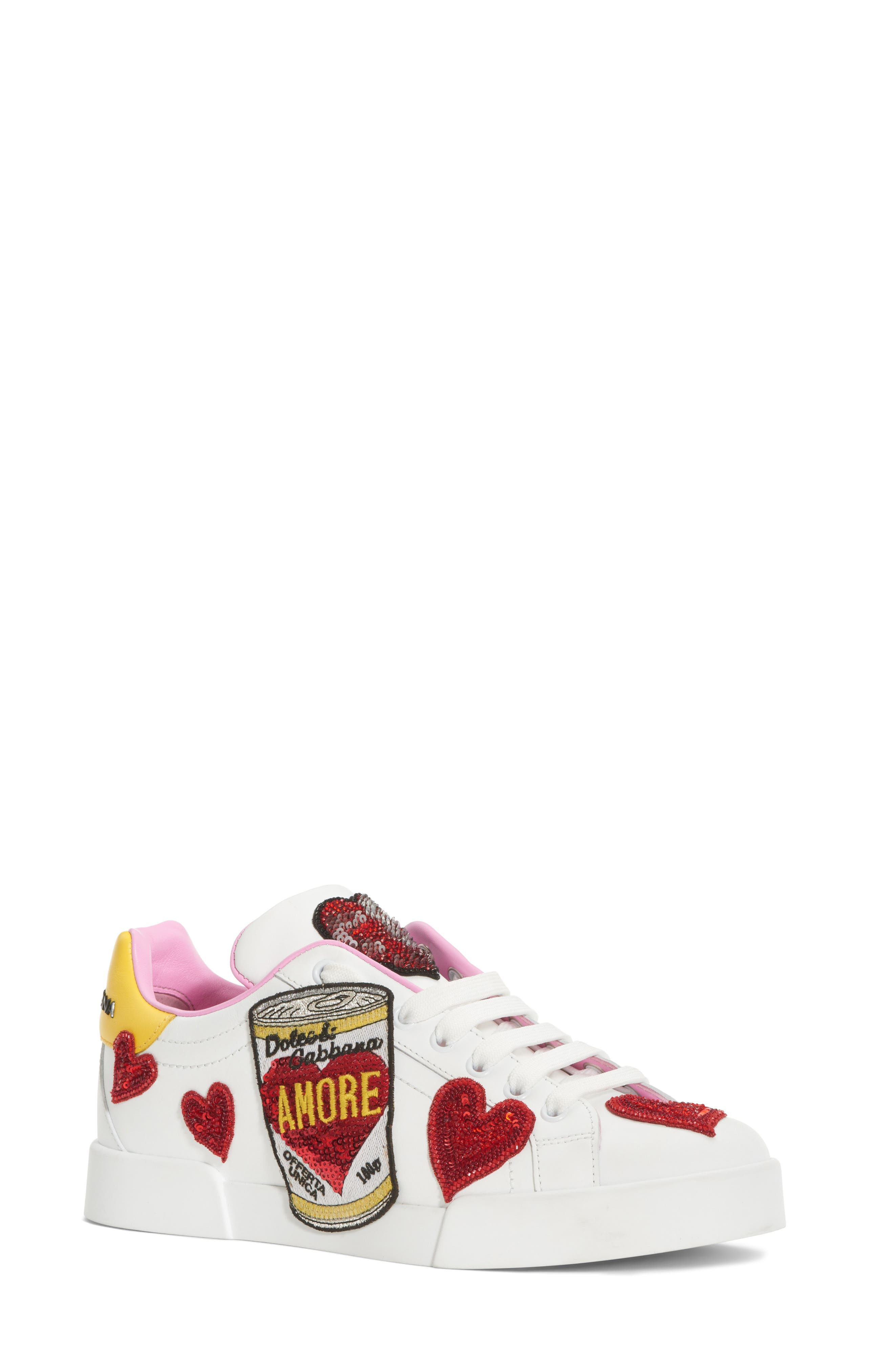 Dolce&Gabbana Amore Lace-Up Sneaker (Women)