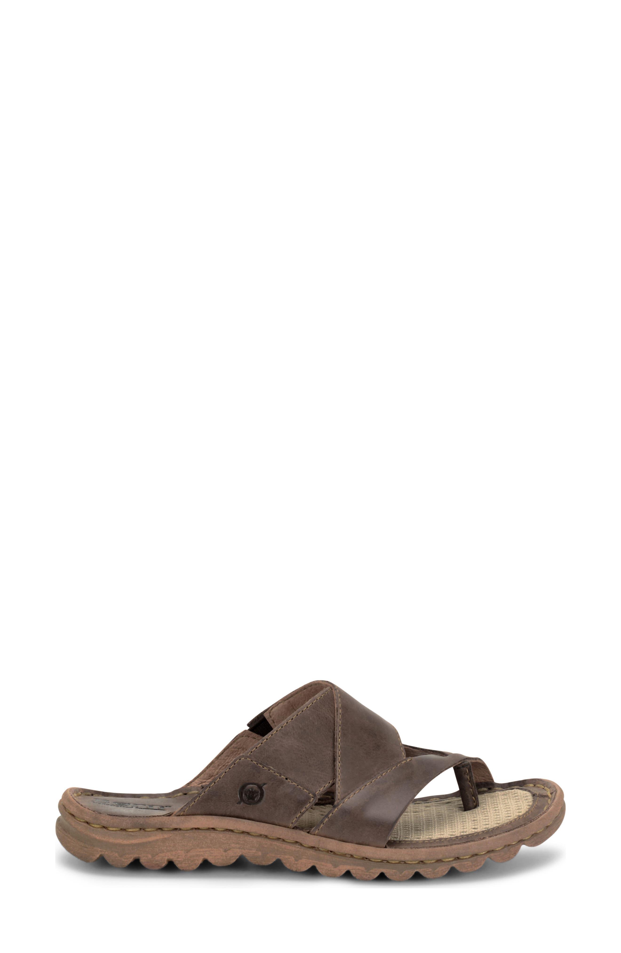 'Sorja' Leather Sandal,                             Alternate thumbnail 3, color,                             Dark Brown Leather