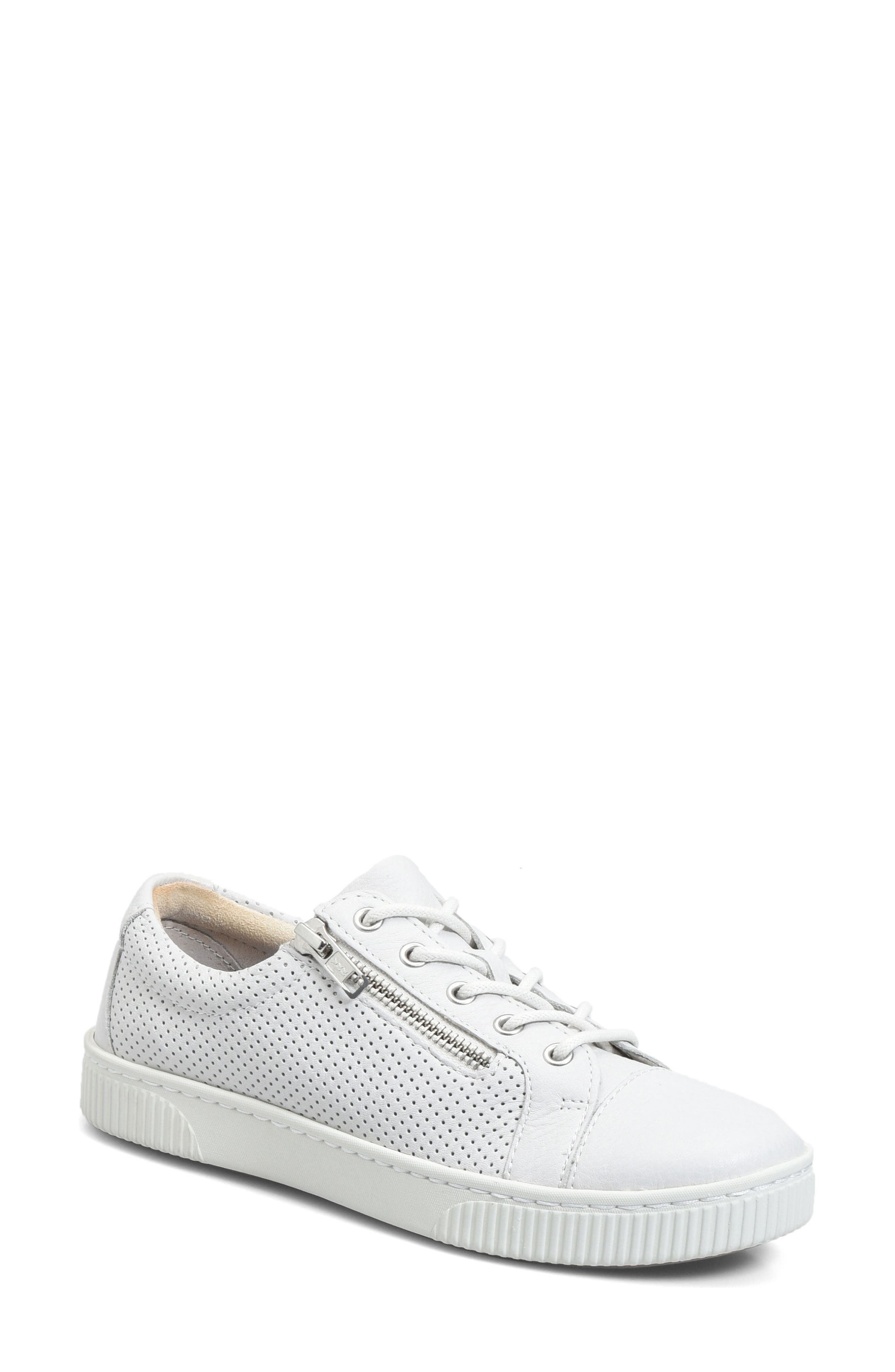 Tamara Perforated Sneaker,                         Main,                         color, White Leather