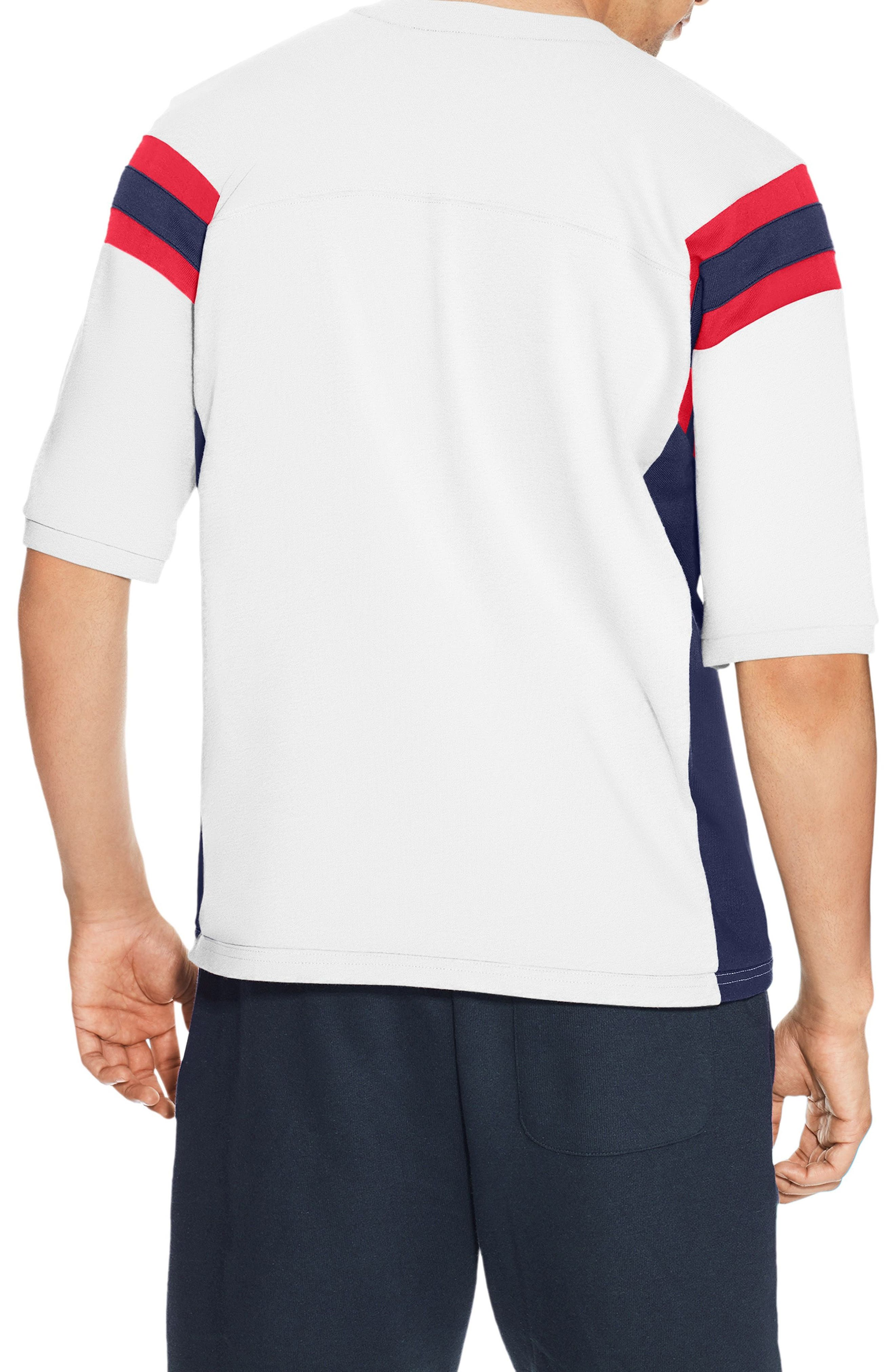 Heavyweight Football Jersey T-Shirt,                             Alternate thumbnail 2, color,                             White/ Imperial Indigio