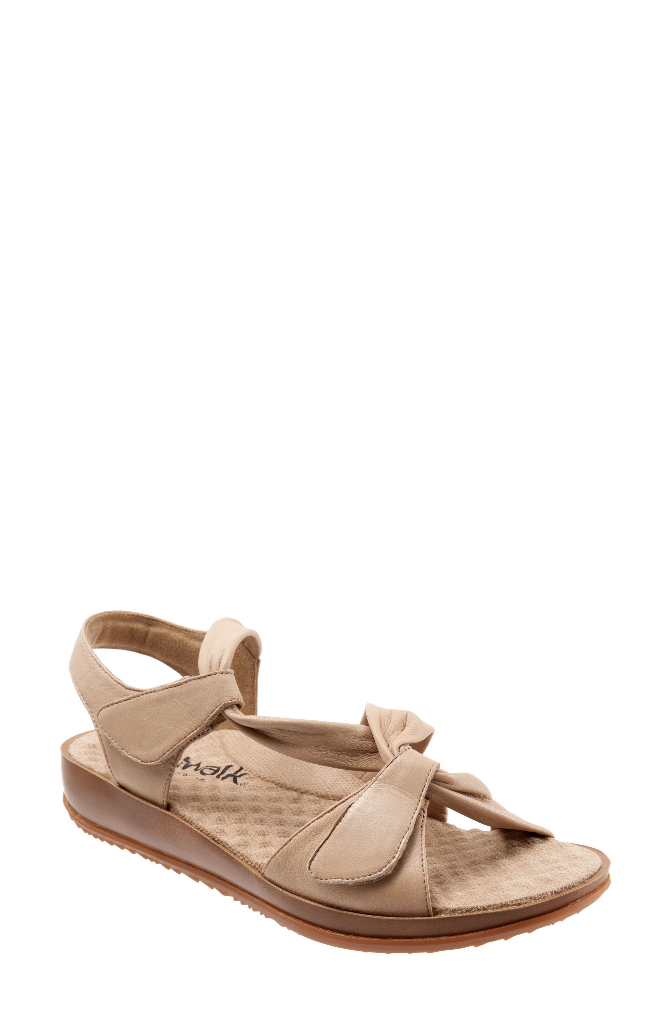 Del Rey Sandal,                             Main thumbnail 1, color,                             Nude Leather