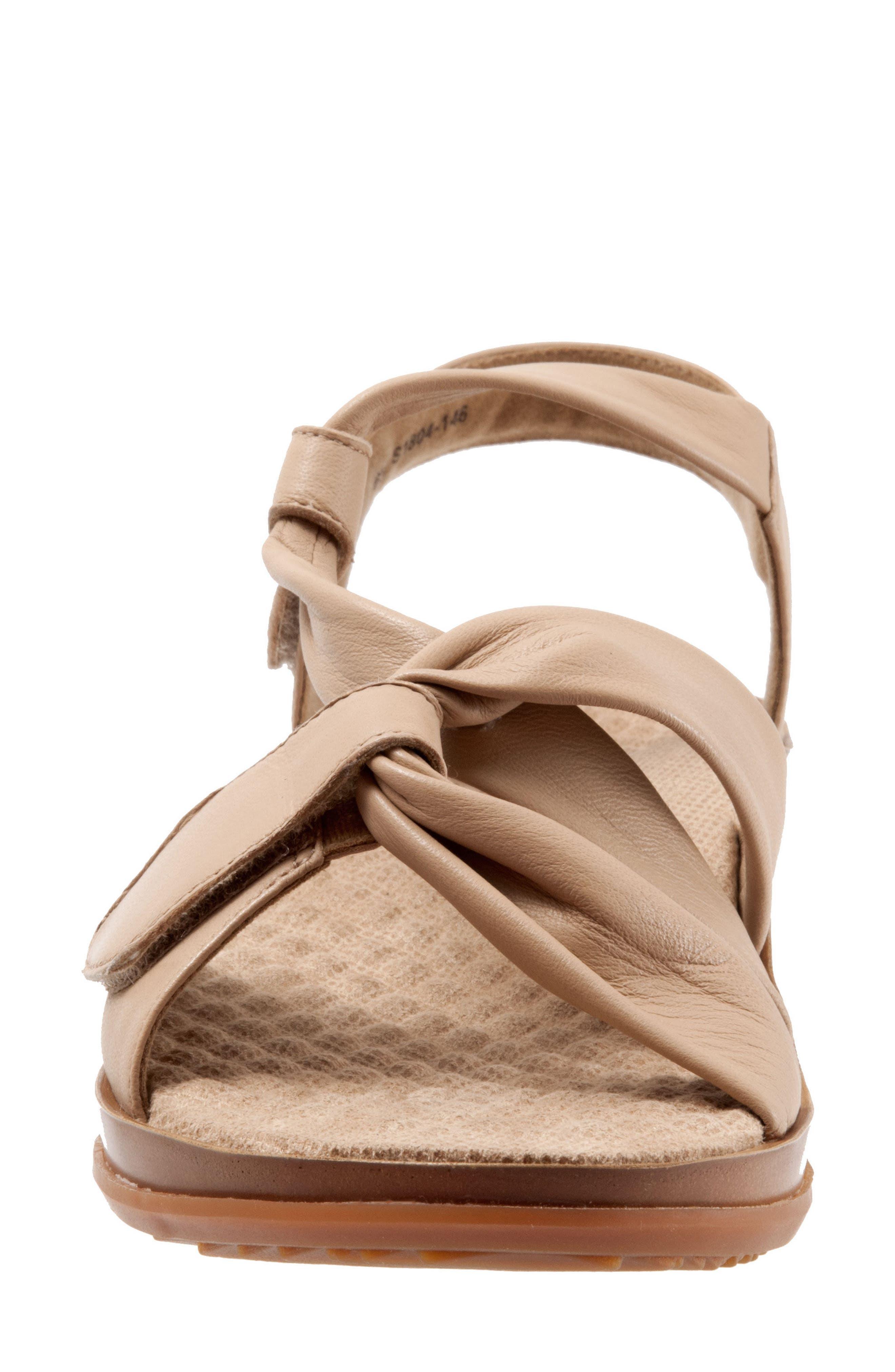 Del Rey Sandal,                             Alternate thumbnail 4, color,                             Nude Leather