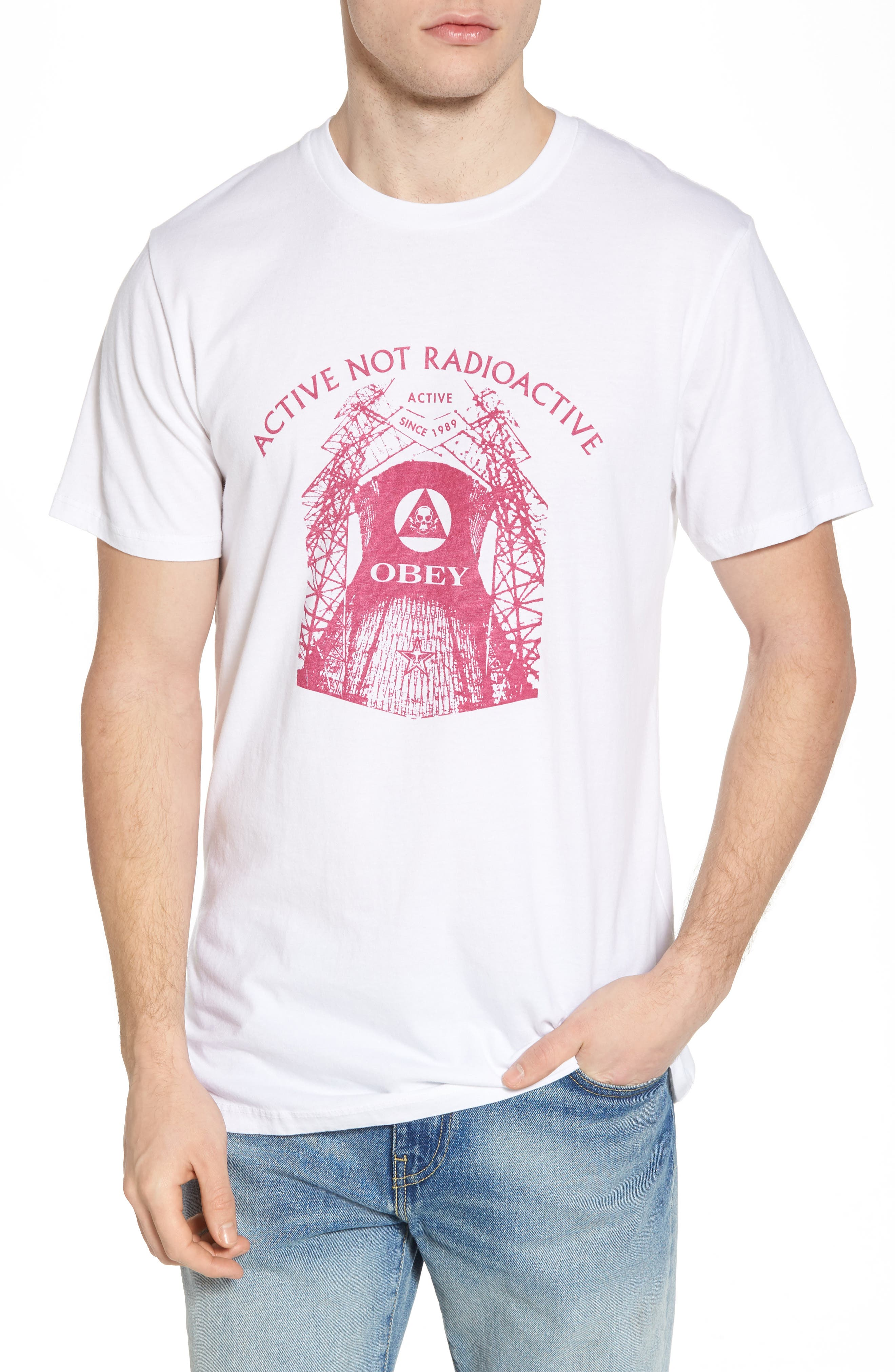 Radioactive Graphic T-Shirt,                         Main,                         color, White