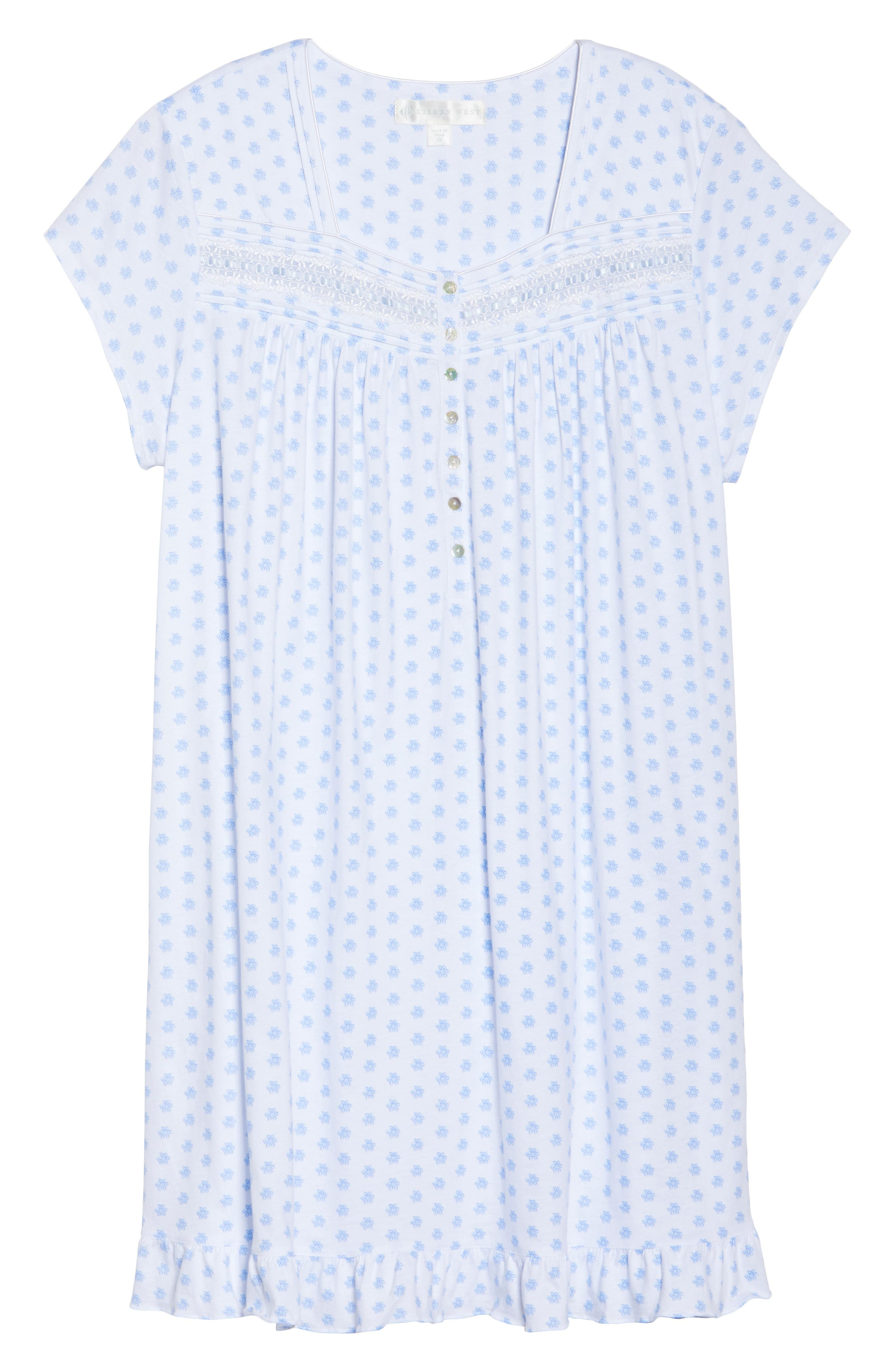 Alternate Image 4  - Eileen West Short Nightgown (Plus Size)