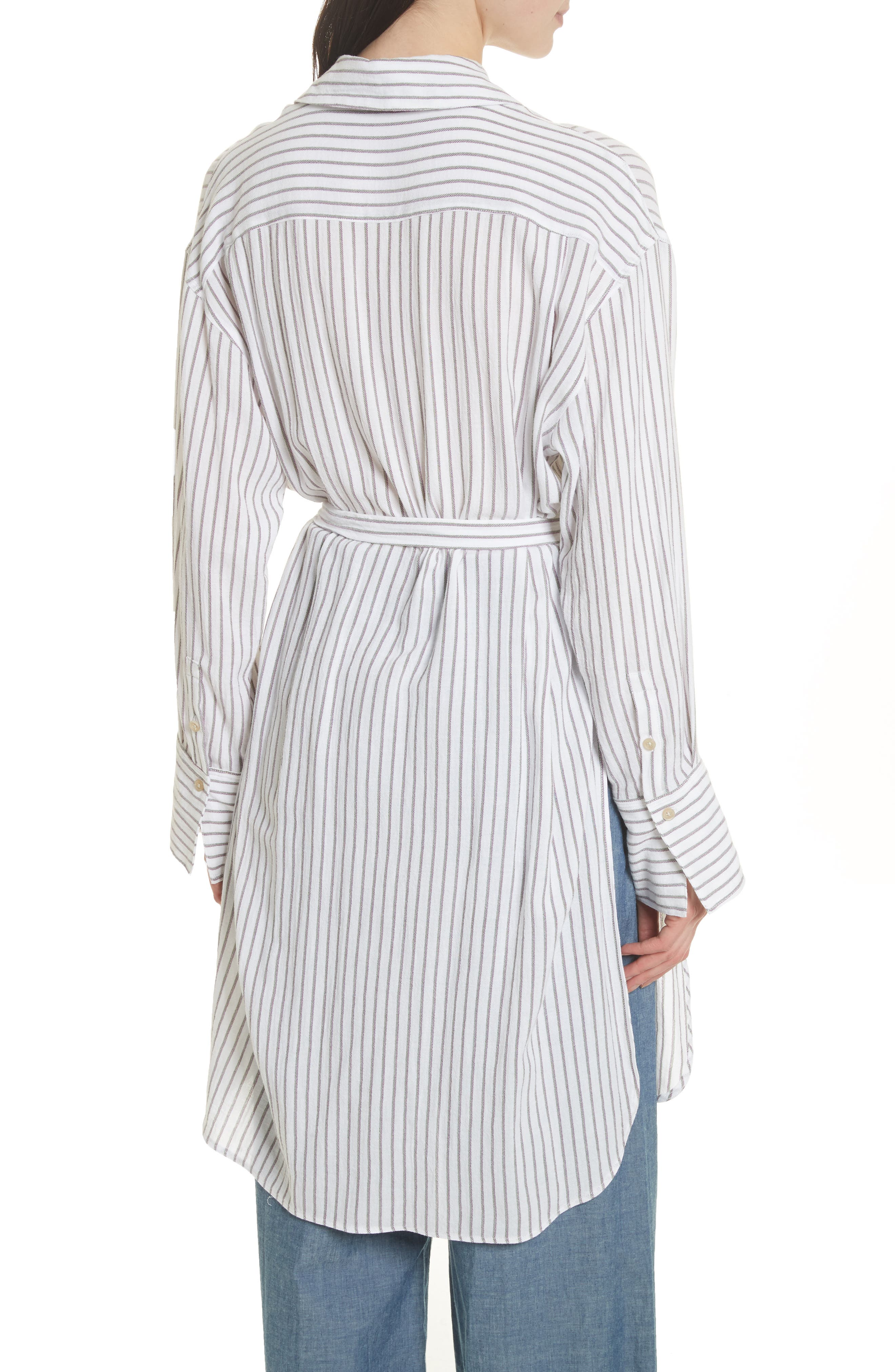 Tawerence Stripe Belted Tunic,                             Alternate thumbnail 3, color,                             Multi