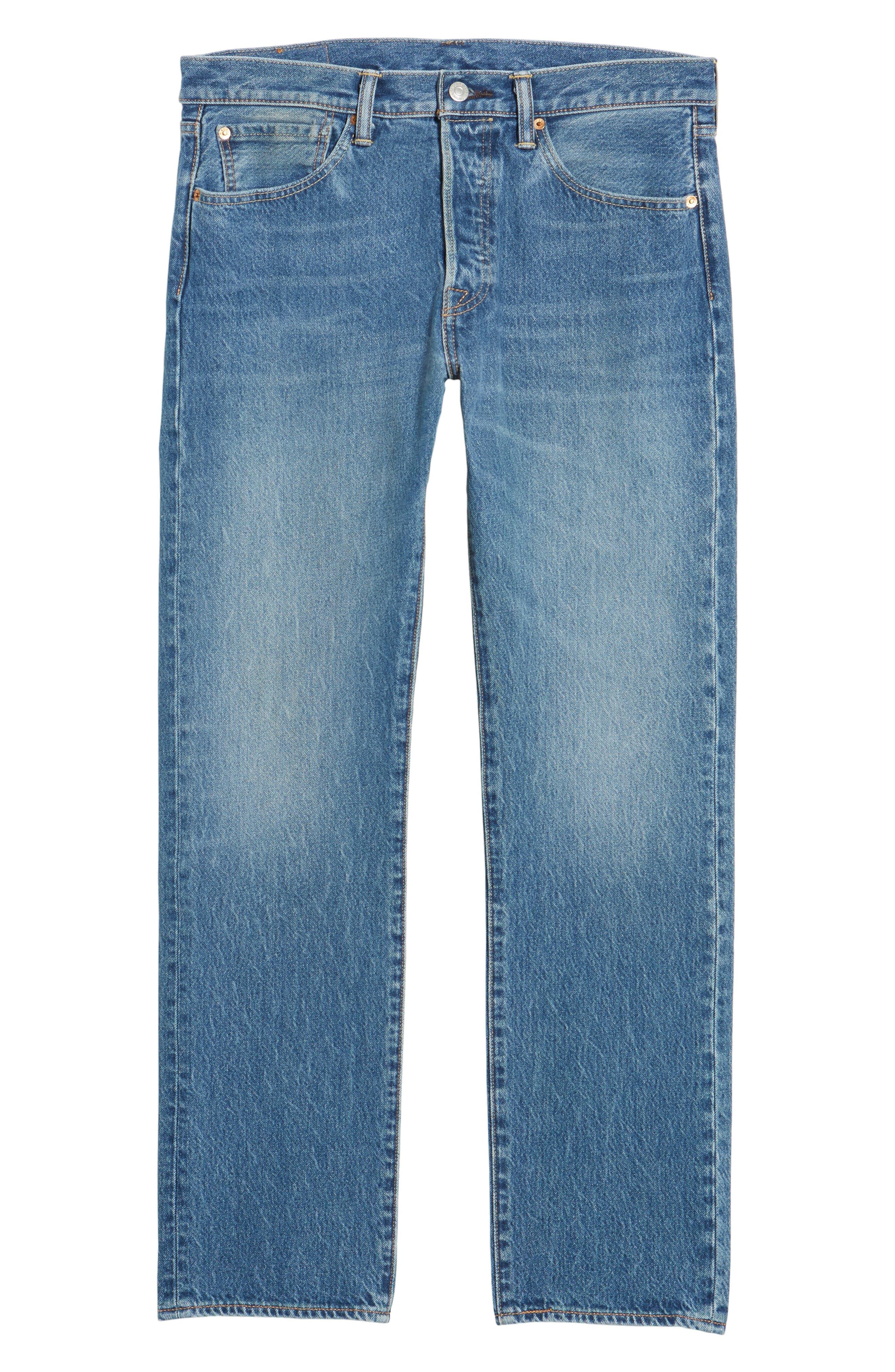 501<sup>™</sup> Straight Leg Jeans,                             Alternate thumbnail 6, color,                             Ivan