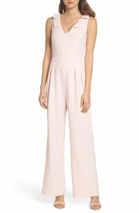 Chelsea28 Bow Shoulder Wide Leg Jumpsuit (Regular & Petite) by CHELSEA28