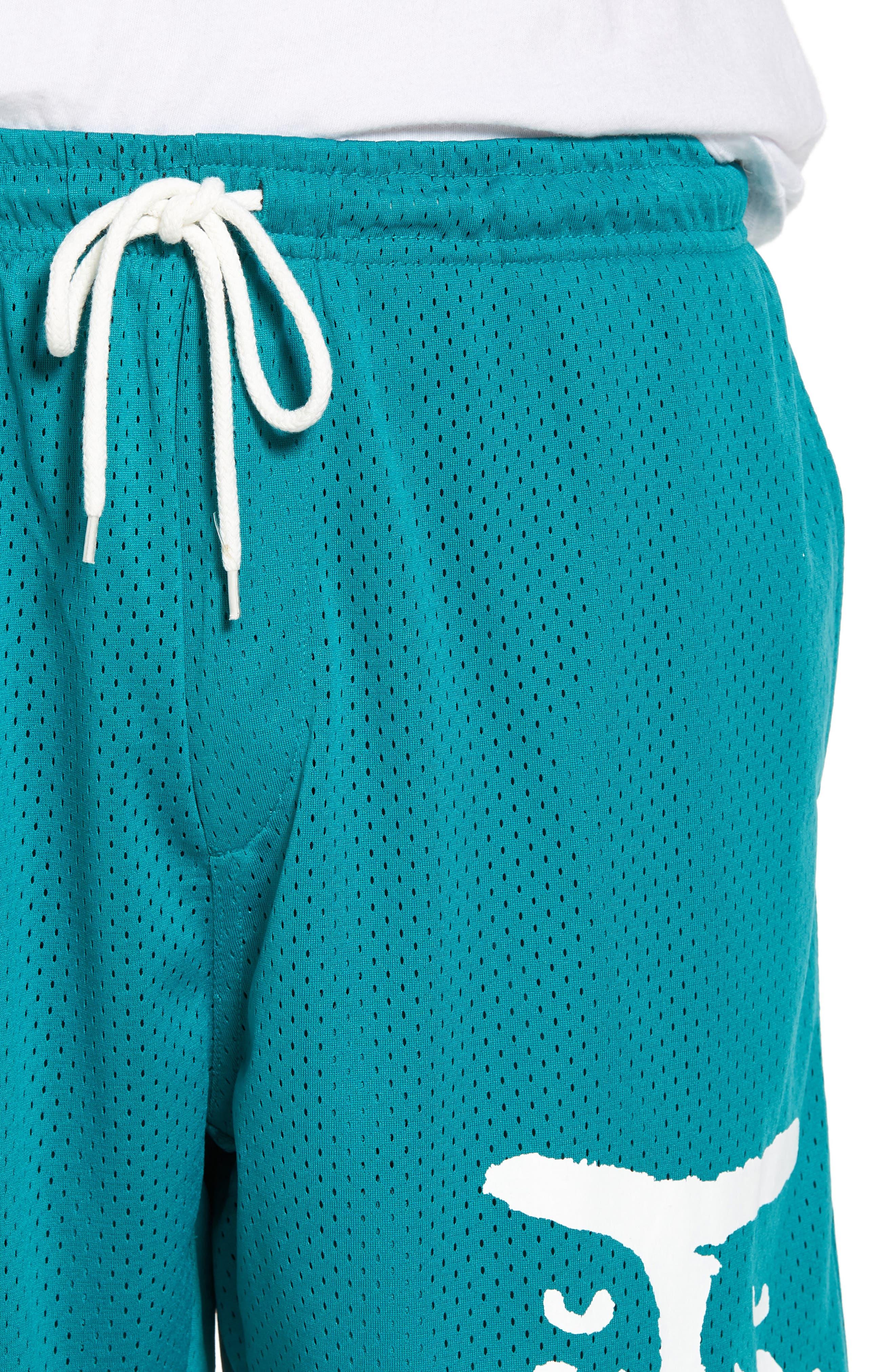 O.P.E. Athletic Shorts,                             Alternate thumbnail 4, color,                             Teal