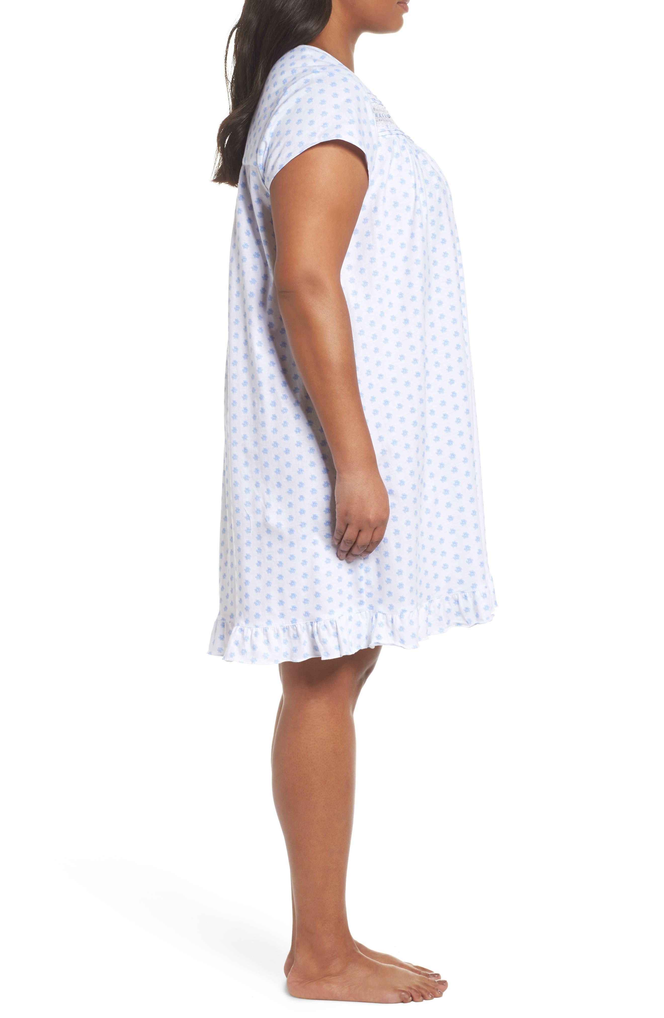 Alternate Image 3  - Eileen West Short Nightgown (Plus Size)