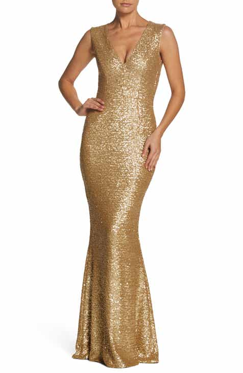 gold sequin dress | Nordstrom