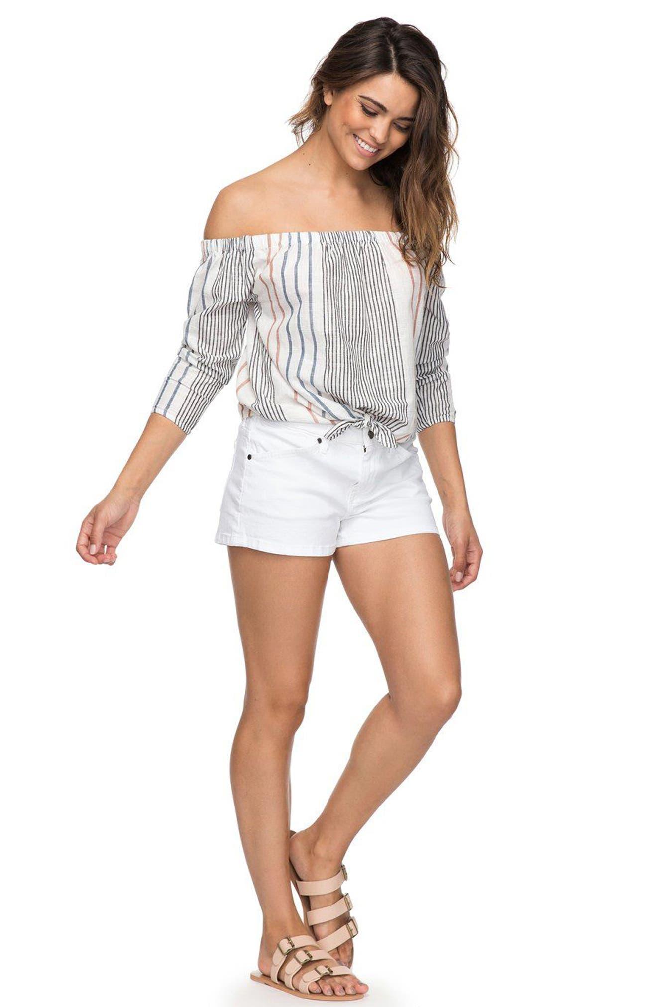 Seatripper Denim Shorts,                             Alternate thumbnail 2, color,                             White