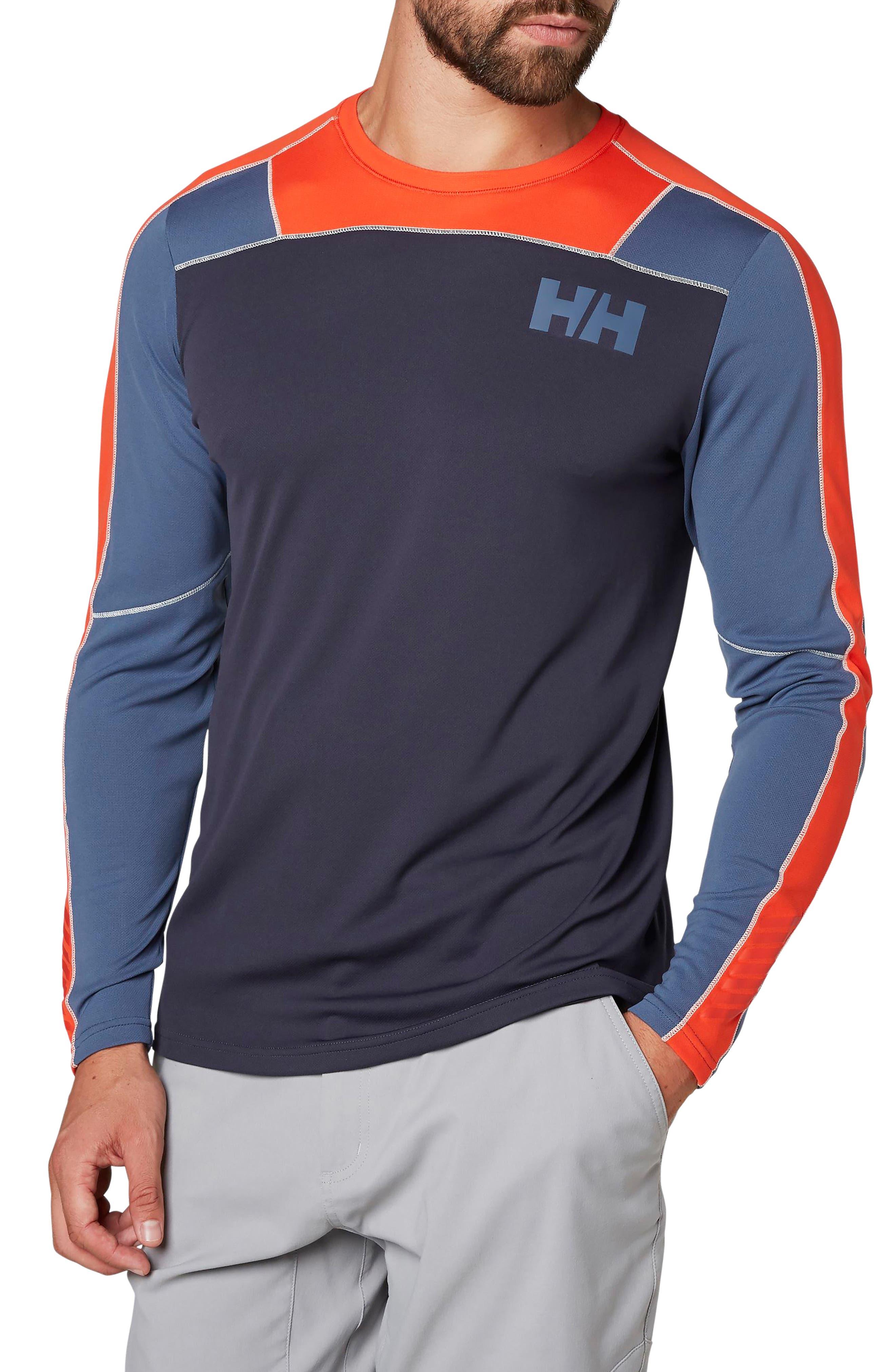 HH<sup>®</sup> Lifa Active Light Long Sleeve T-Shirt,                             Main thumbnail 1, color,                             Graphite Blue
