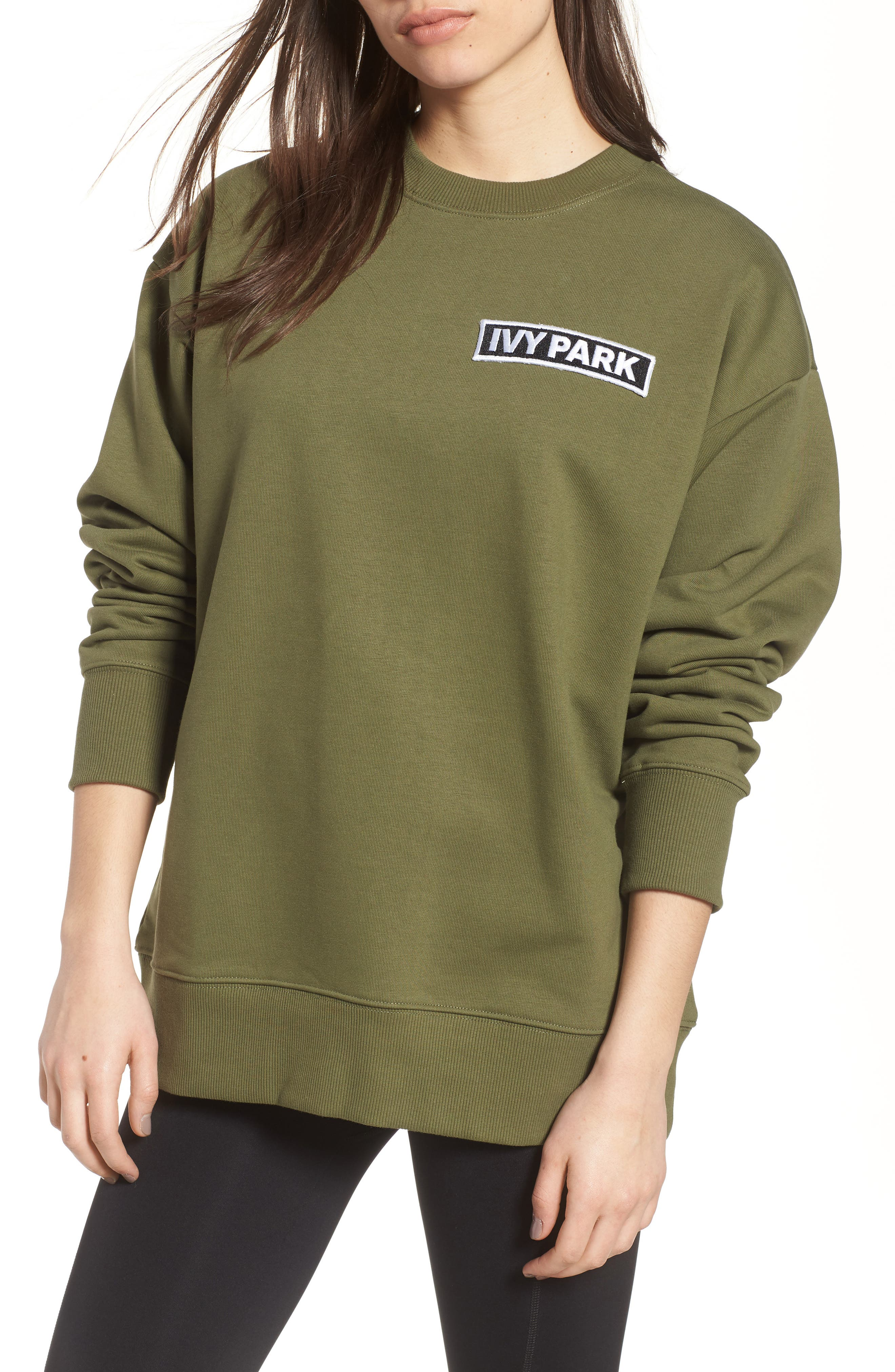 Alternate Image 1 Selected - IVY PARK® Badge Logo Sweatshirt