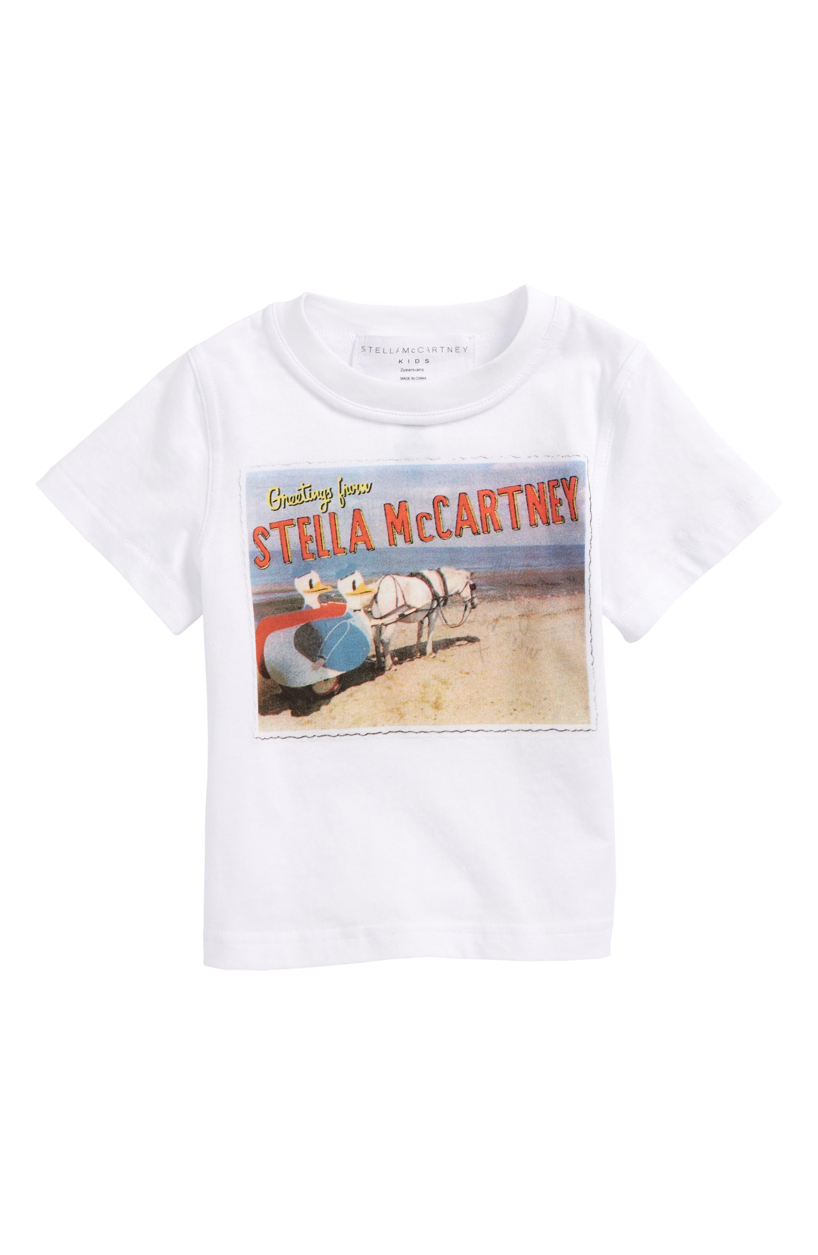 Alternate Image 1 Selected - Stella McCartney Arlo Stella Postcard Tee (Toddler Girls, Little Girls & Big Girls)